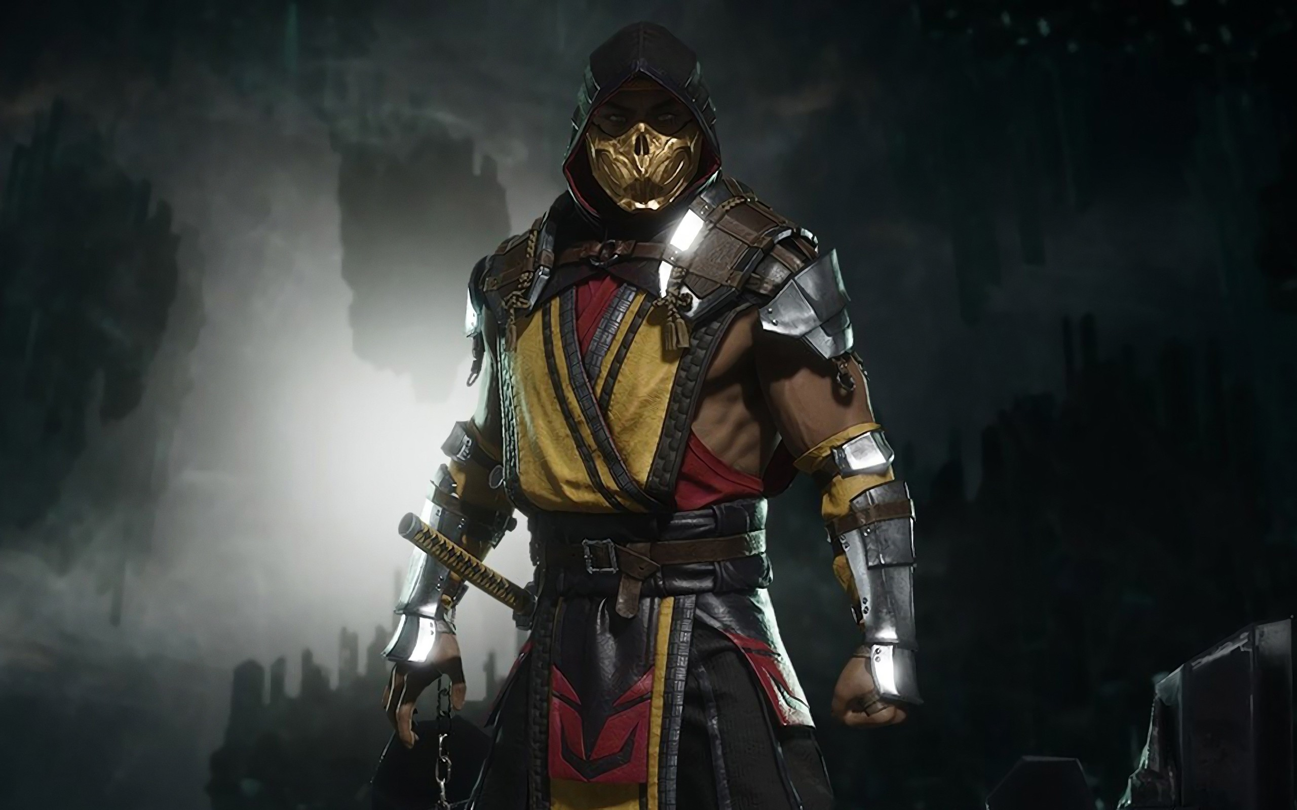 Res: 2560x1600, Wallpaper of Scorpion, Mortal Kombat, Mortal Kombat 11, XI background & HD  image