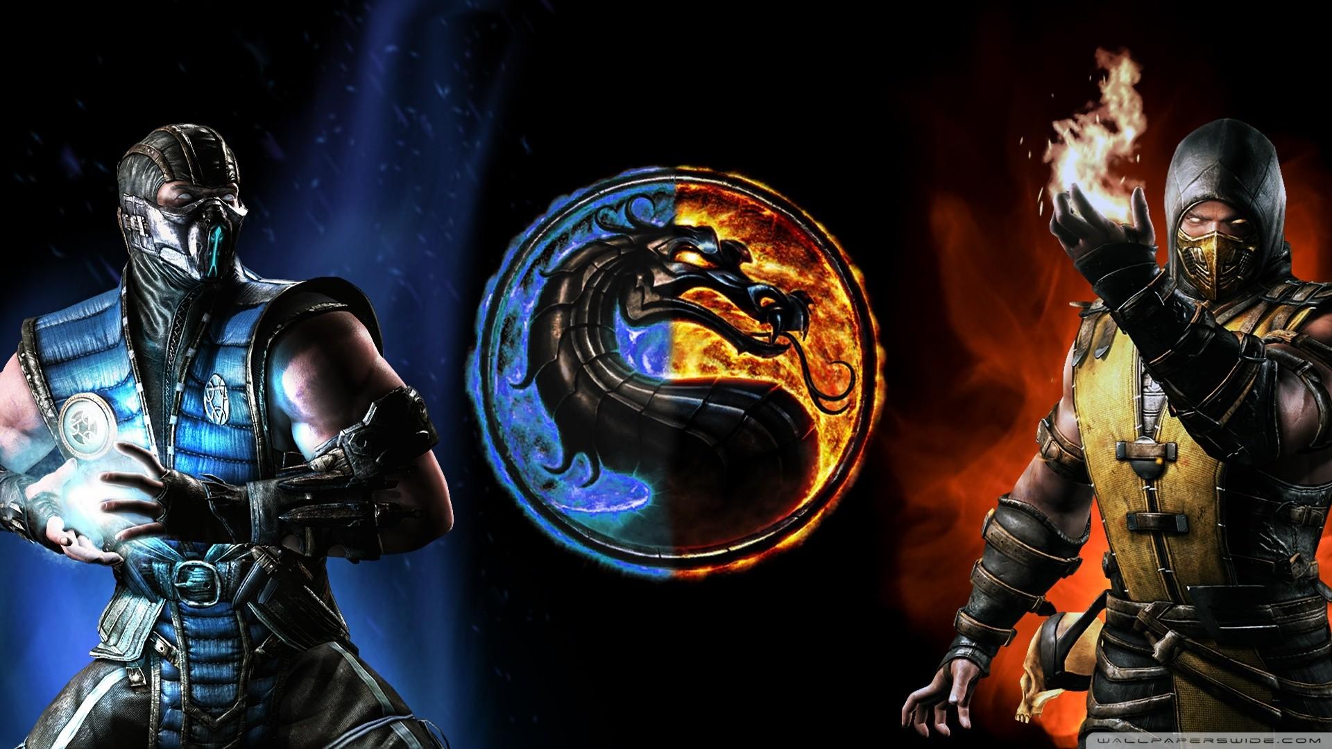 Res: 1920x1080, Mortal Kombat X : SubZero vs Scorpion HD desktop wallpaper : High
