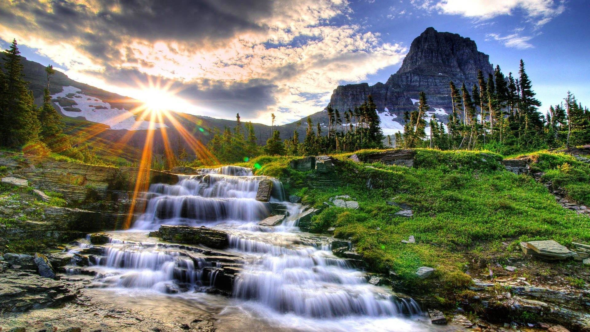 Res: 1920x1080, Water fall image nature wallpaper