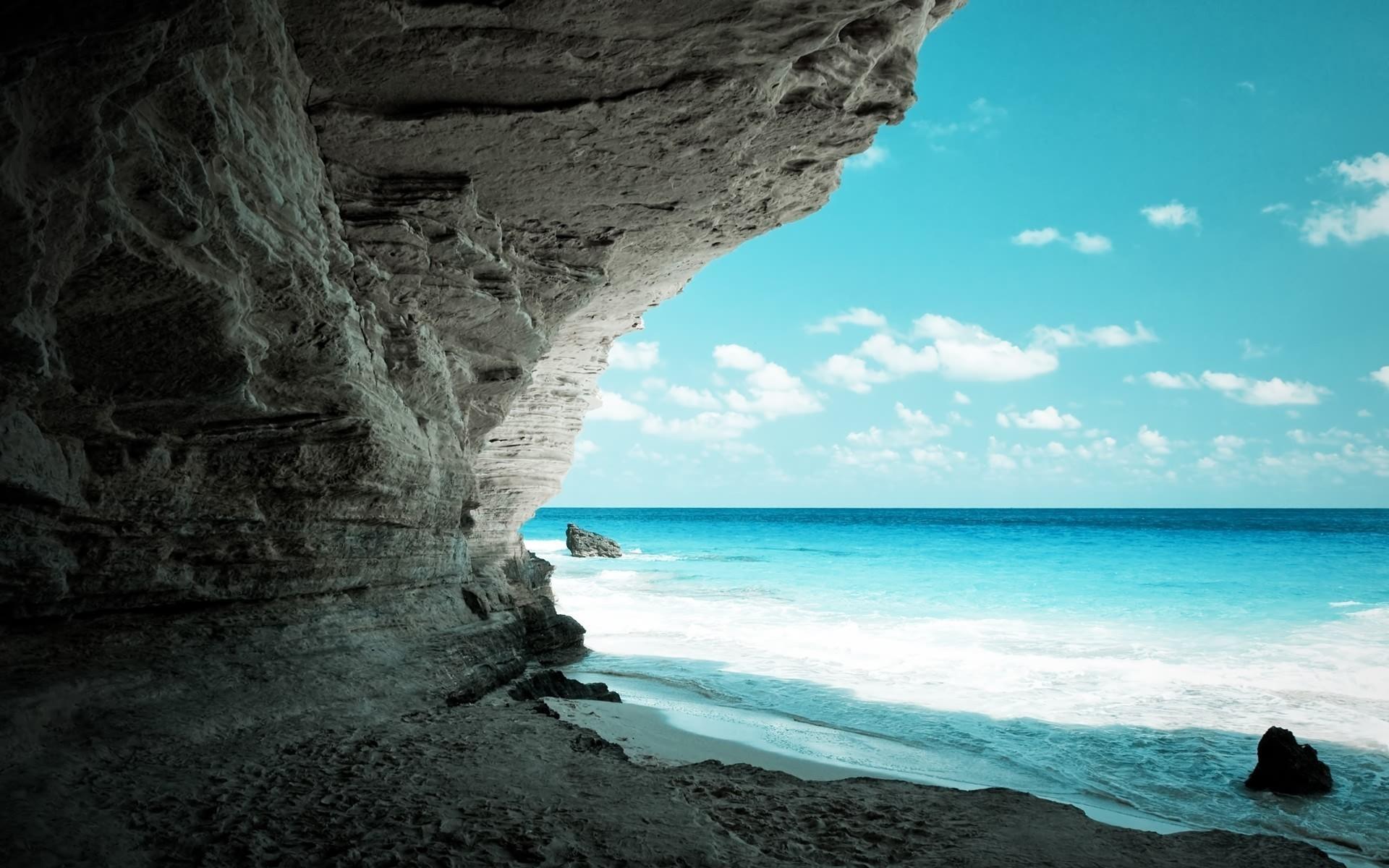 Res: 1920x1200, Nature Wallpaper - rocky sea nature wallpaper