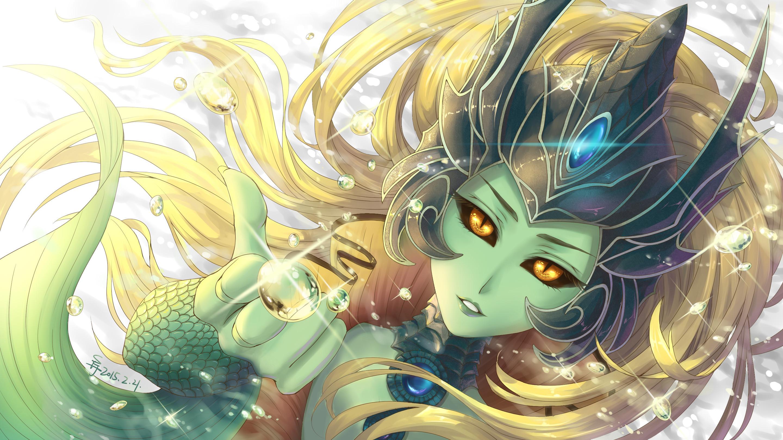 Res: 2880x1620, Nami by Suiiii HD Wallpaper Background Fan Art Artwork League of Legends lol