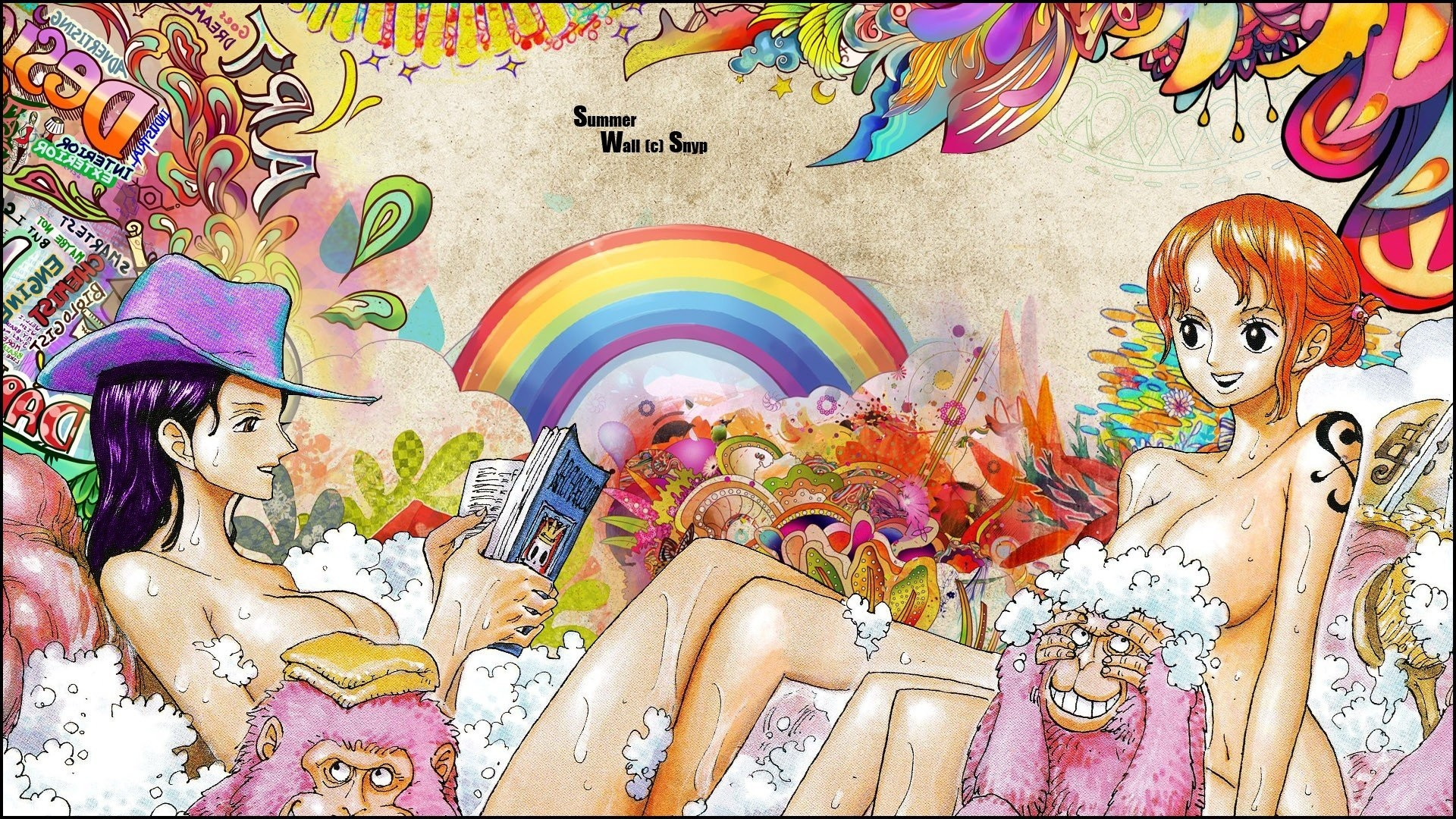 Res: 1920x1080, 1920x1200 One Piece, Roronoa Zoro, Usopp, Nico Robin, Nami Wallpaper