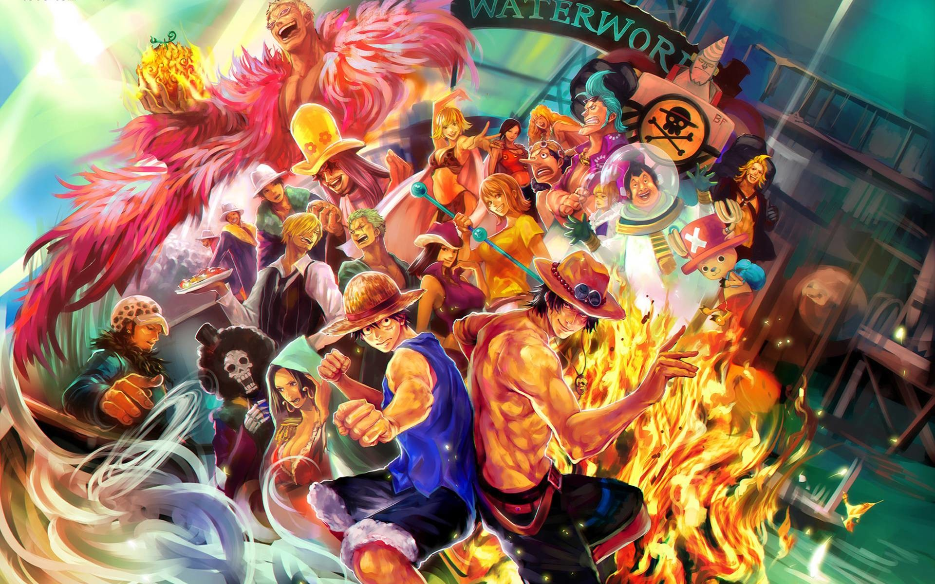 Res: 1920x1200, Wallpaper One Piece 2015 Nami And Law - WallpaperSafari