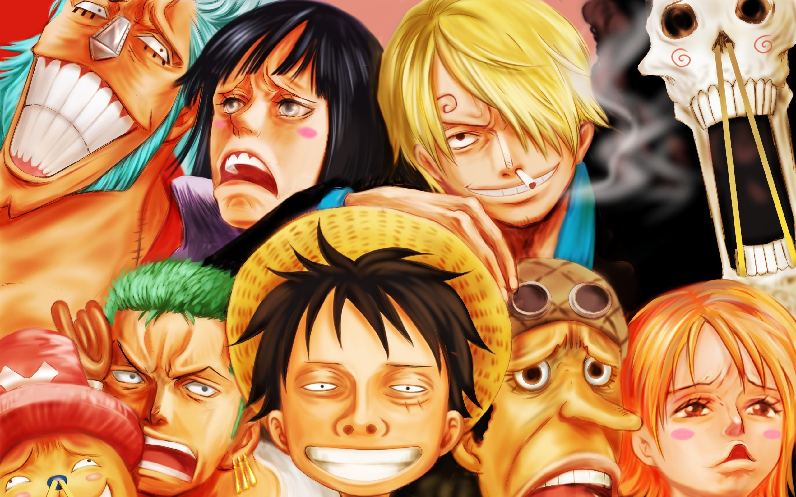 Res: 2560x1600, Wallpaper of Brook, Franky, Monkey D. Luffy, Nami, Nico Robin background &  HD image