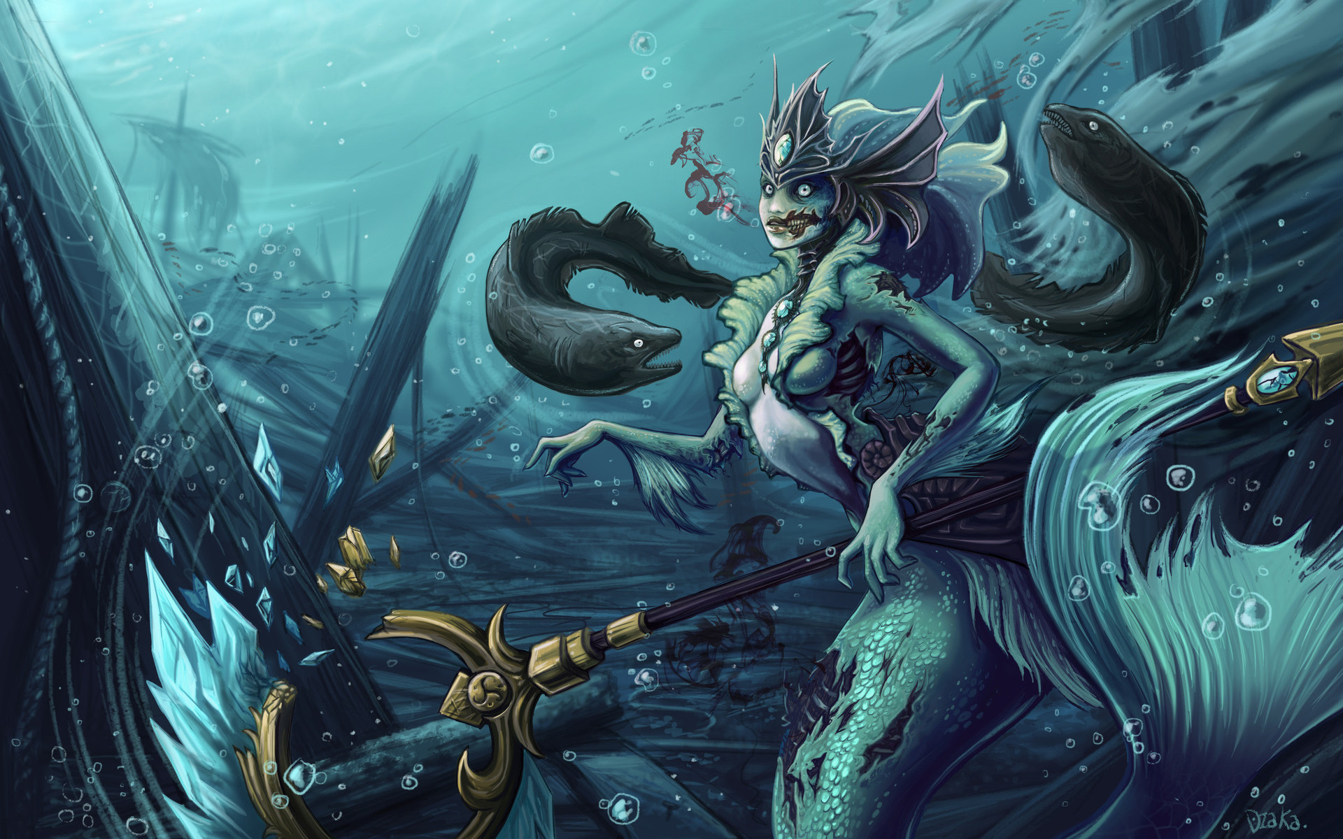 Res: 1920x1200, Nami The zombie mermaid - League of legends