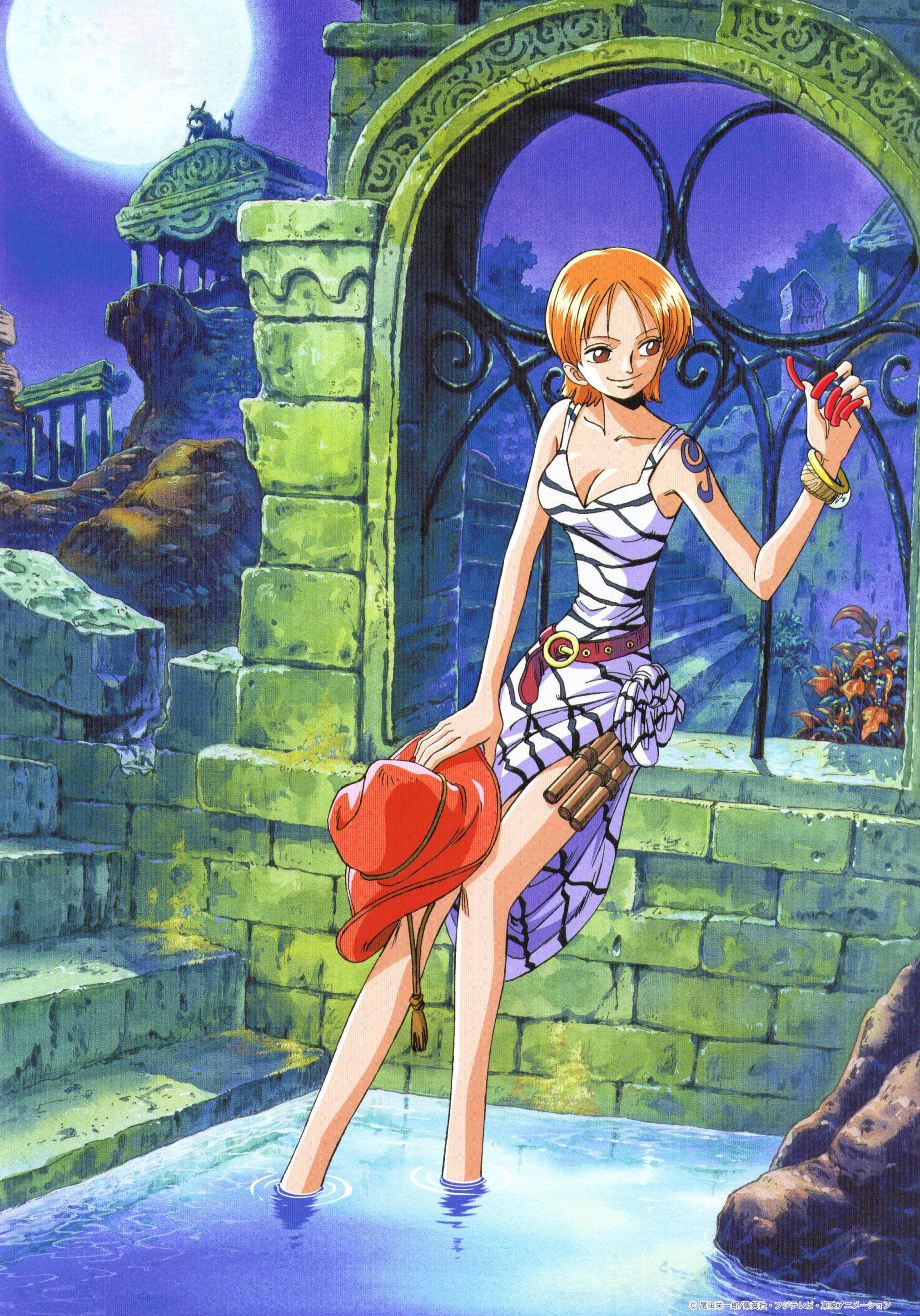 Res: 2025x2895, one piece images Nami standing in water holding a hat HD wallpaper and  background photos
