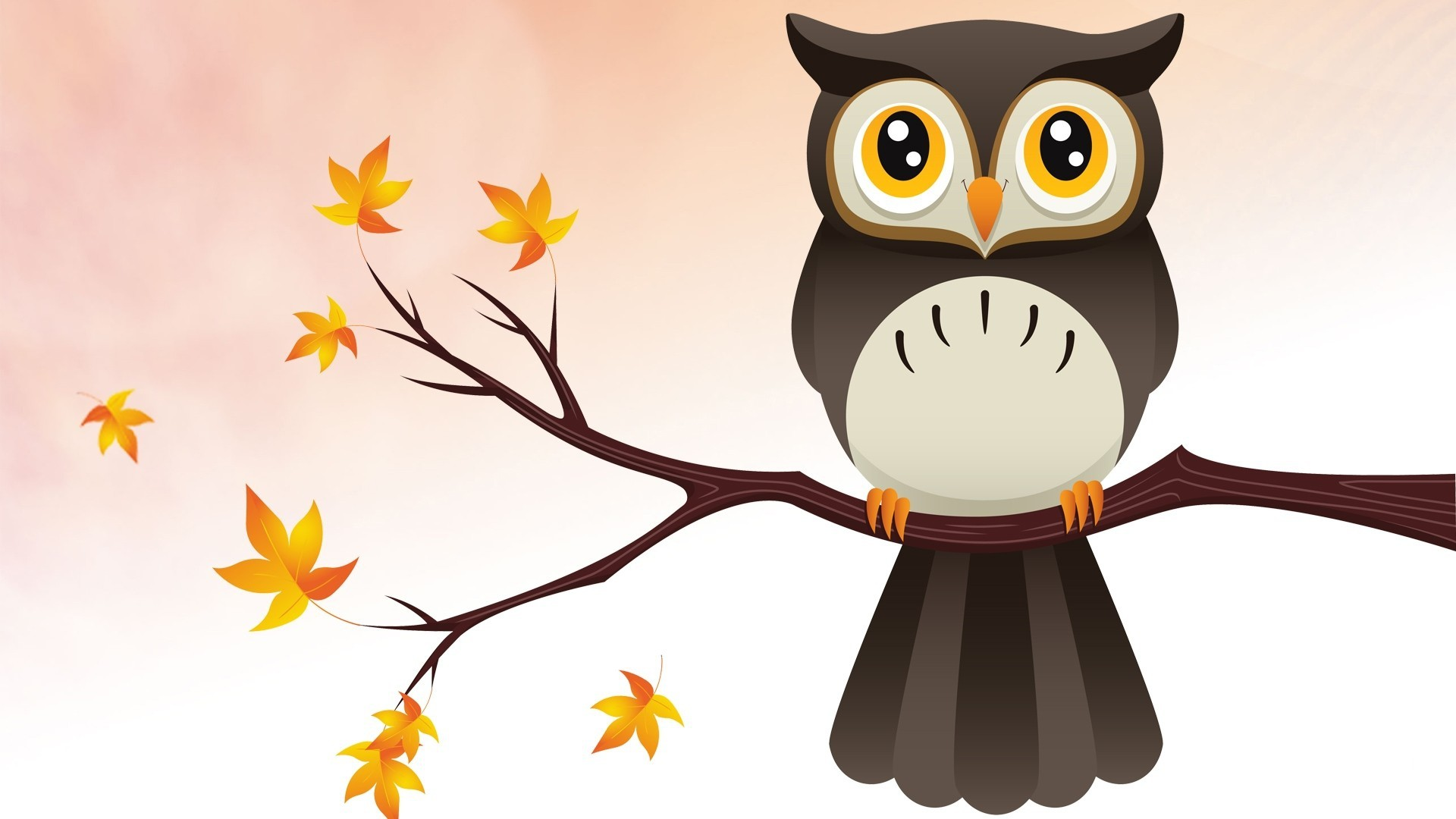 Res: 1920x1080, Cute Owl Background Free Download.