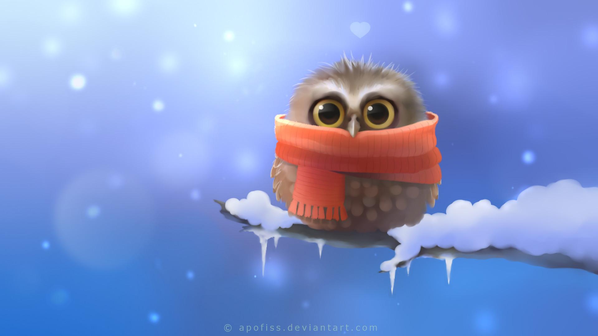 Res: 1920x1080, Cute Owl