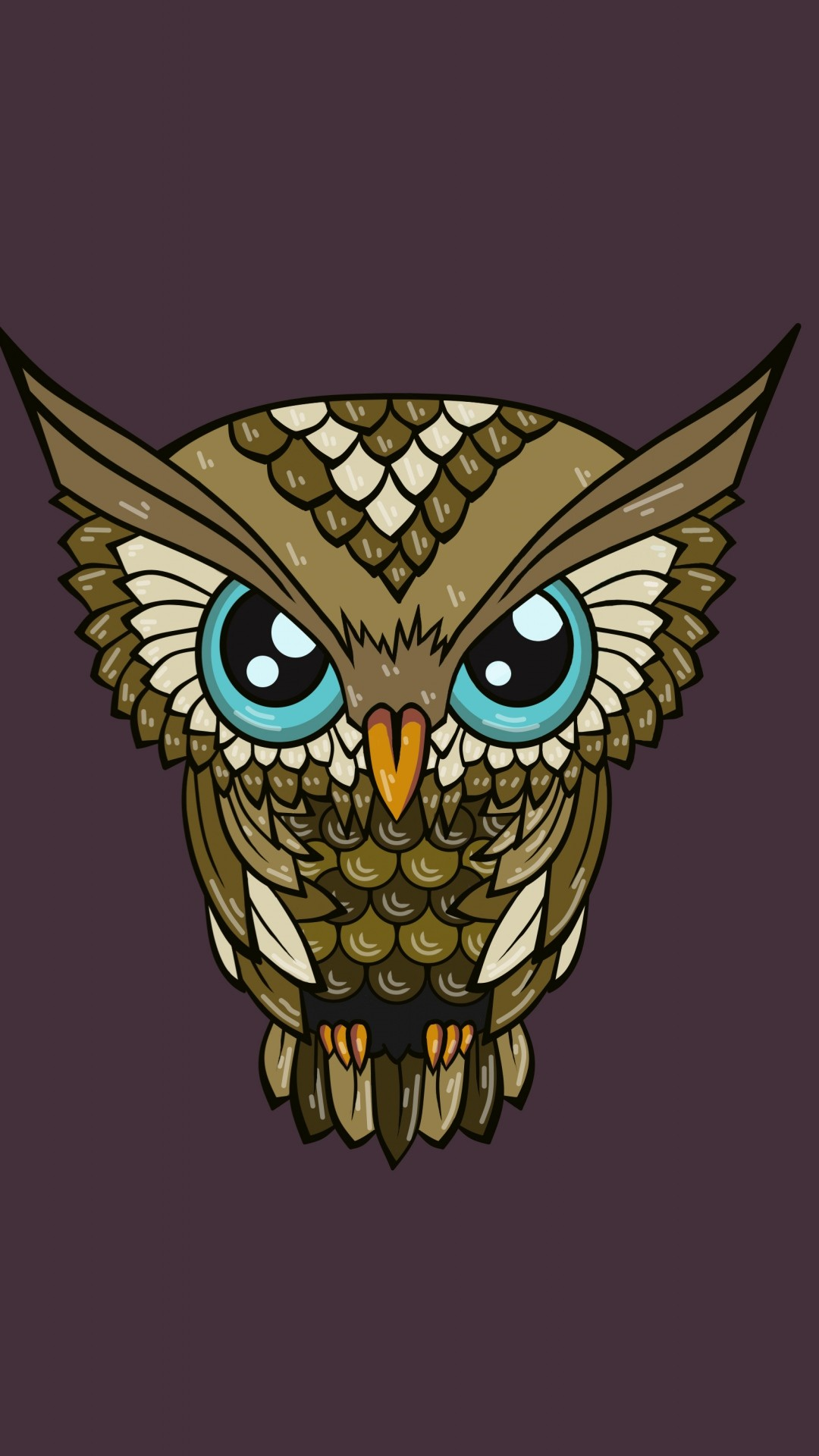 Res: 1080x1920, Cute Owl Wallpaper HD for Android.