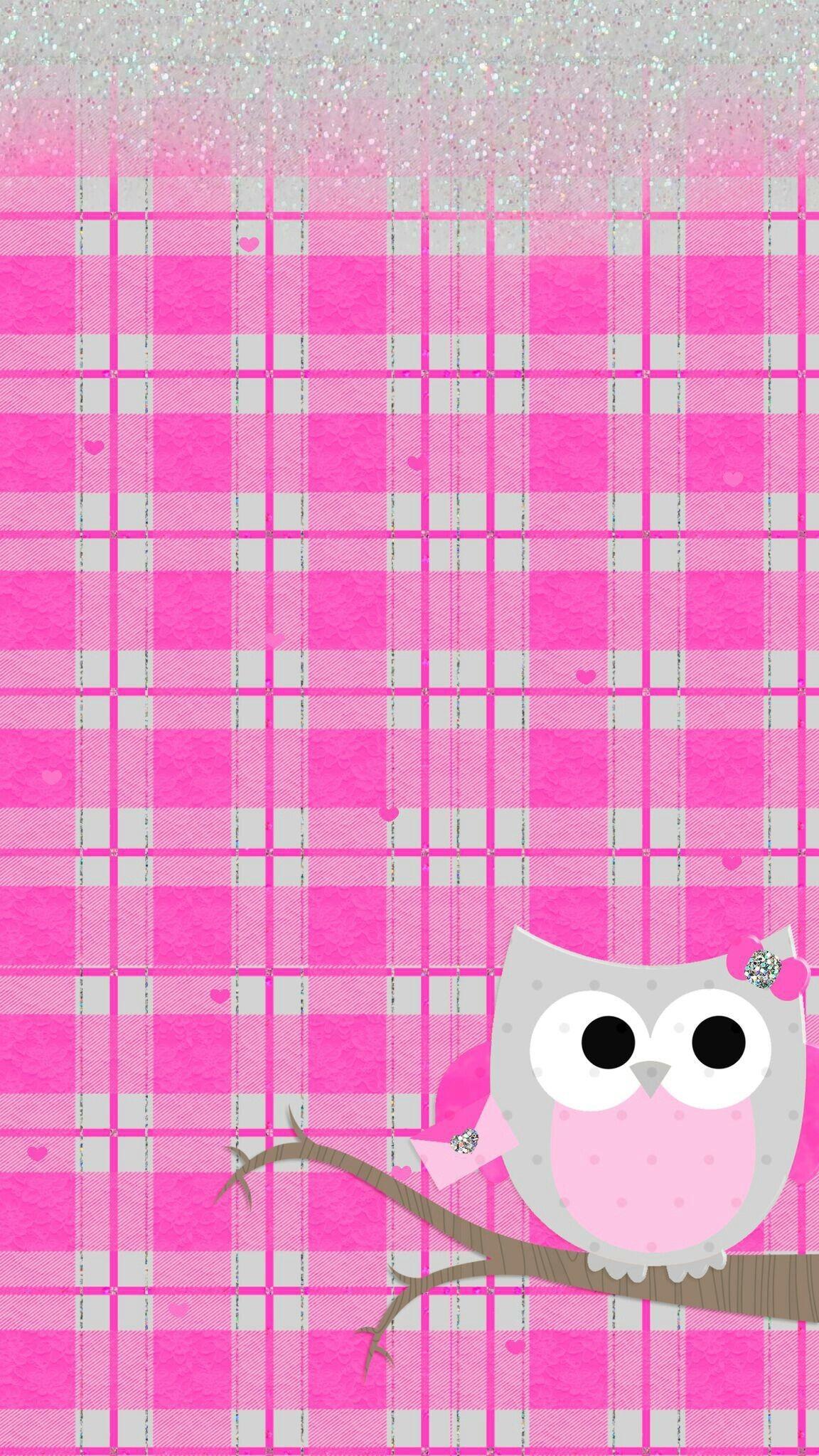 Res: 1152x2048, Pink cute owl wallpaper