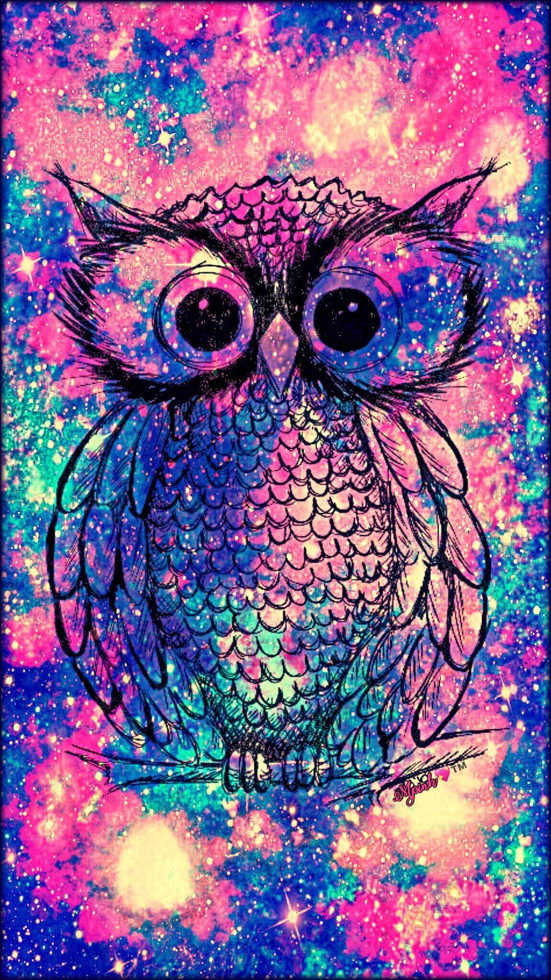 Res: 1080x1920, Vintage Owl Galaxy Wallpaper #androidwallpaper #iphonewallpaper #wallpaper  #galaxy #sparkle #glitter
