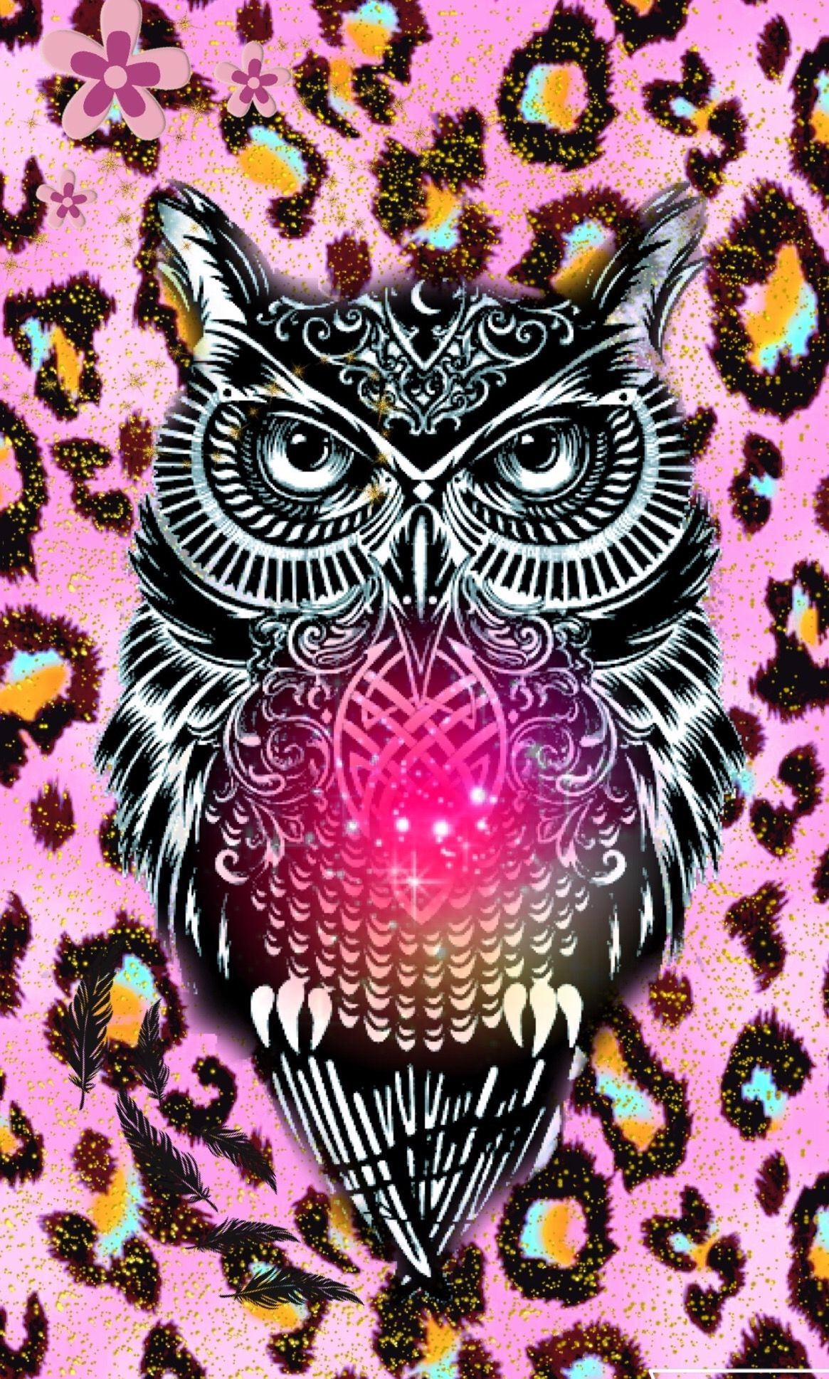 Res: 1165x1938, Animal print owl cute hispter by me