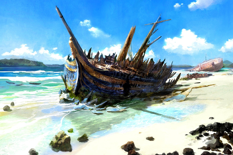 Res: 2880x1920, Shipwreck Wallpaper