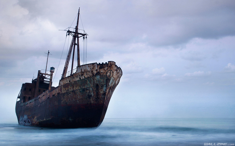 Res: 2880x1800, Abandoned Shipwreck Hd Wallpaper