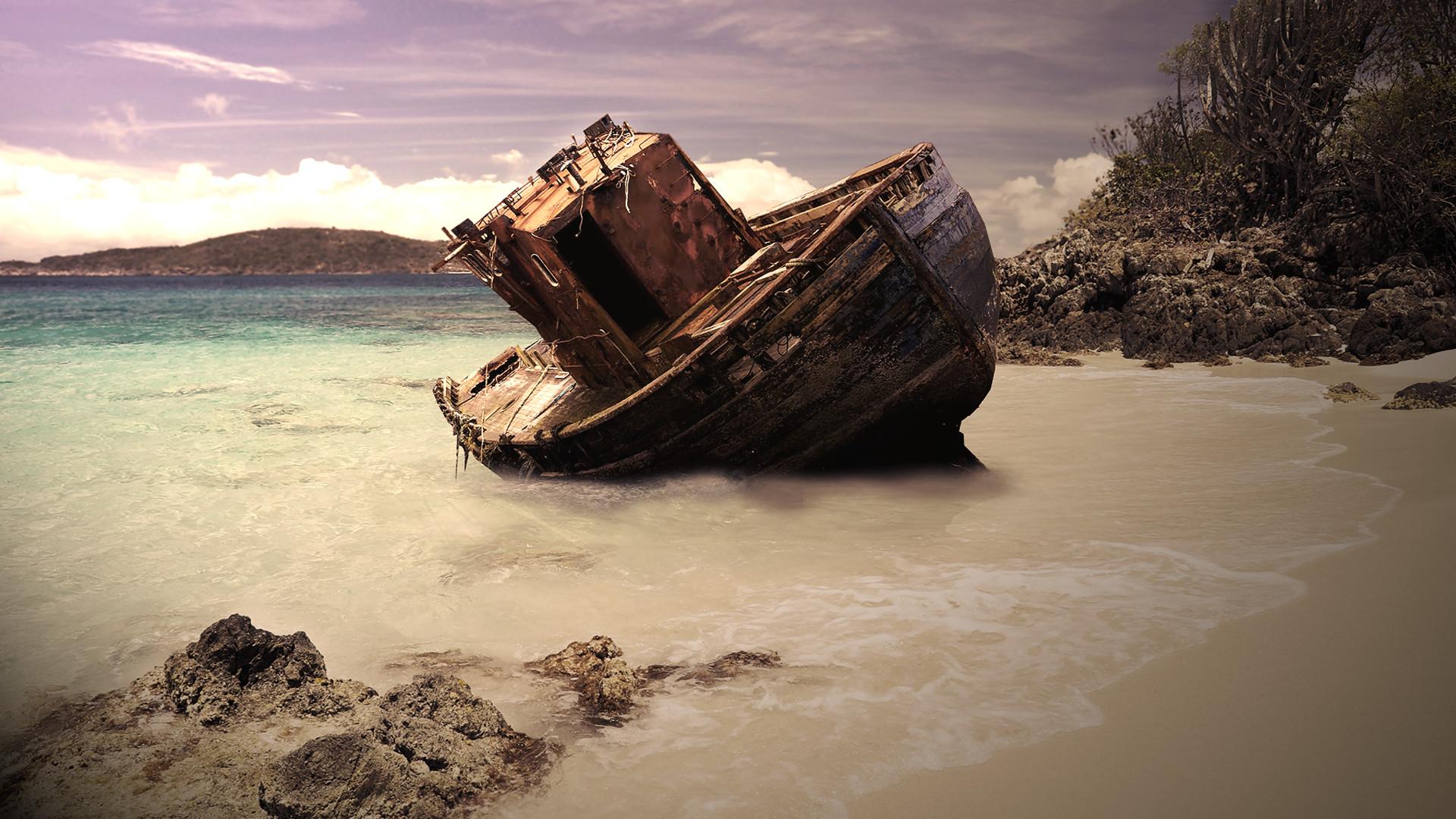 Res: 1920x1080, Shipwreck HD Wallpaper
