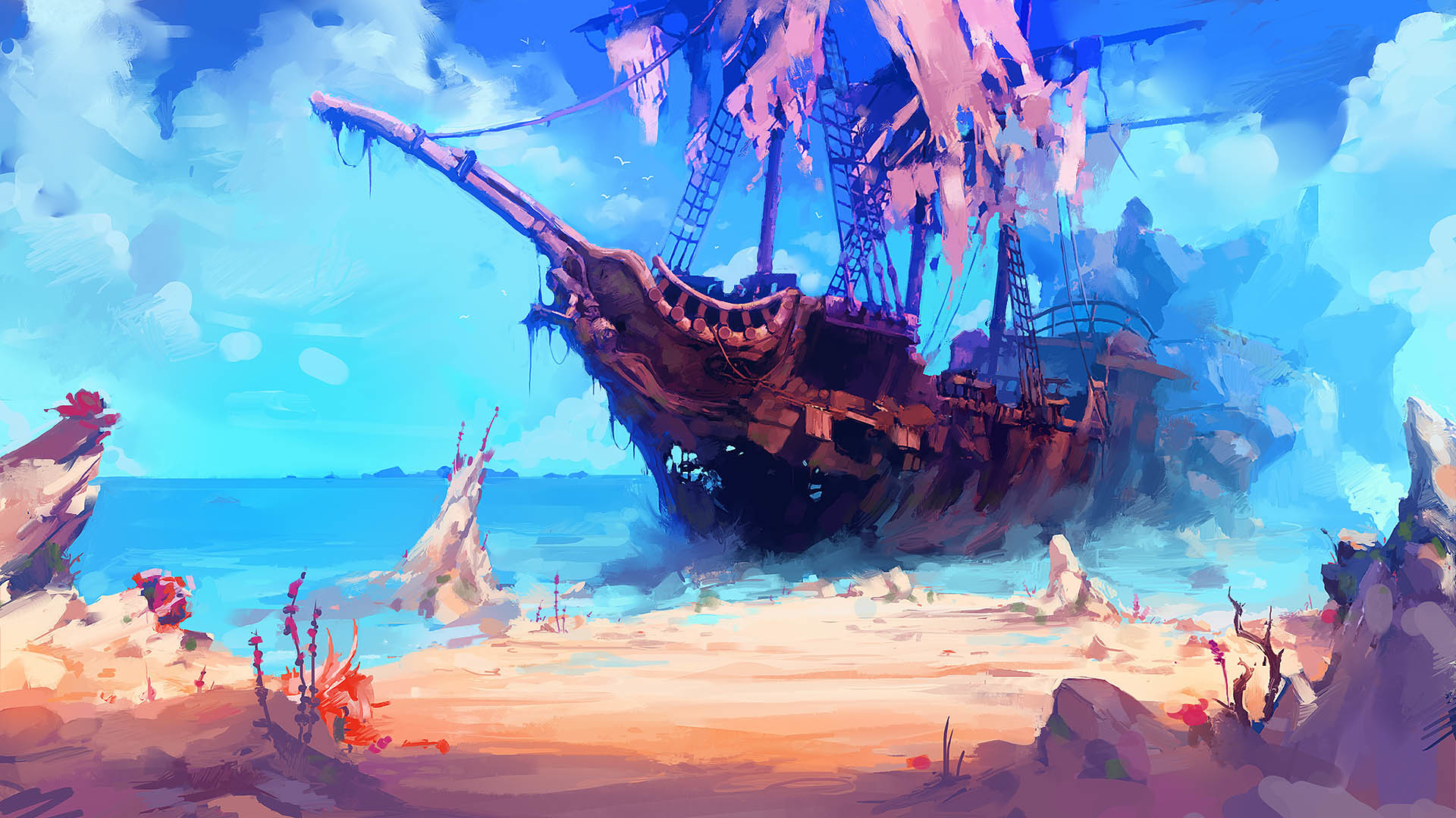 Res: 1920x1080, Shipwreck. Wallpaper from Trine 3: The Artifacts of Power