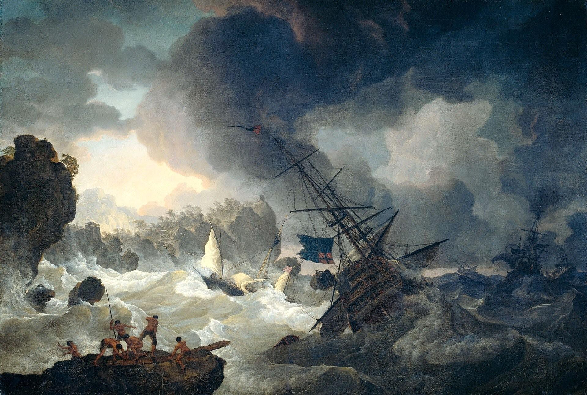 Res: 1920x1292, Cabeza de Vaca, Hendrik Kobell, Painting, Artwork, Shipwreck