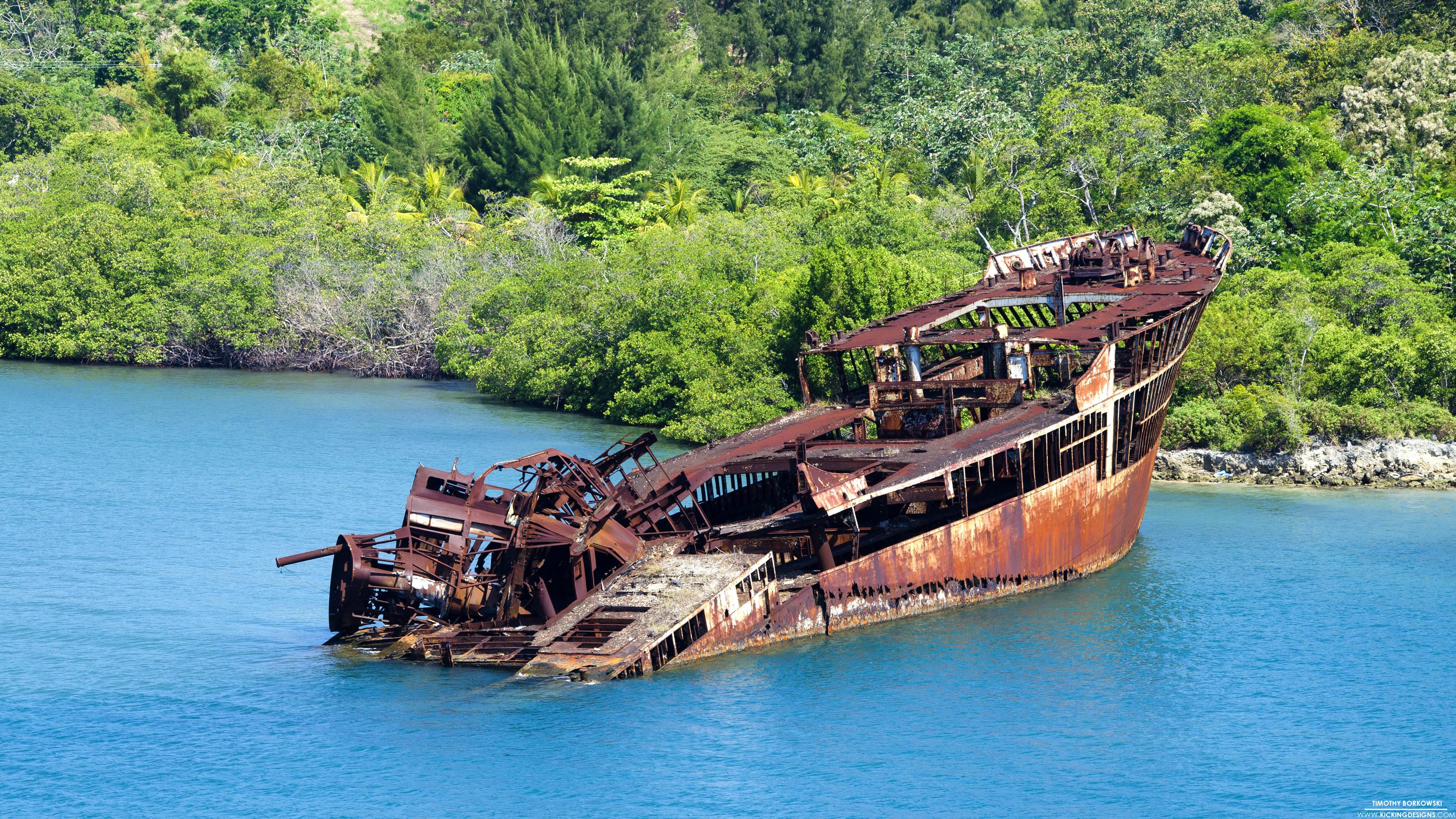 Res: 3840x2160, Roatan Shipwreck 5-28-2015