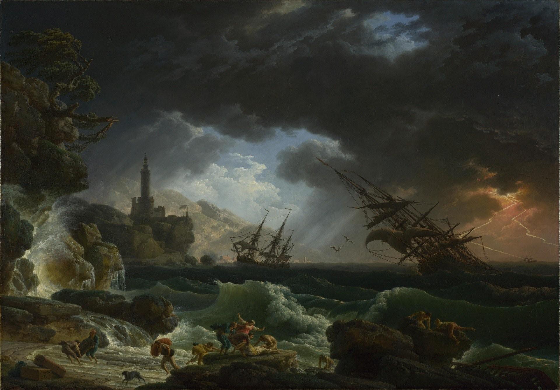 Res: 1920x1336, claude - joseph vernet shipwreck during the storm claude-joseph vernet  national gallery london shipwrecked