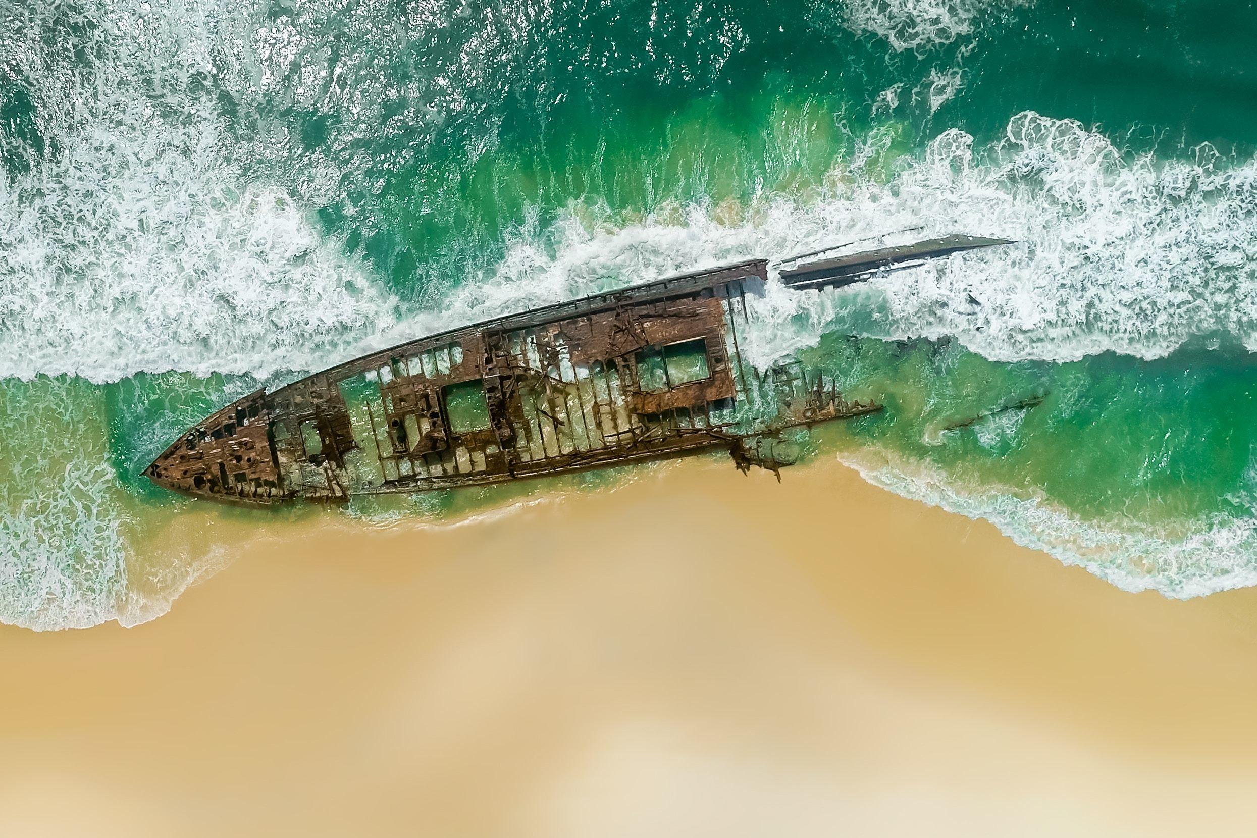 Res: 2490x1660, Maheno Shipwreck Wallpaper