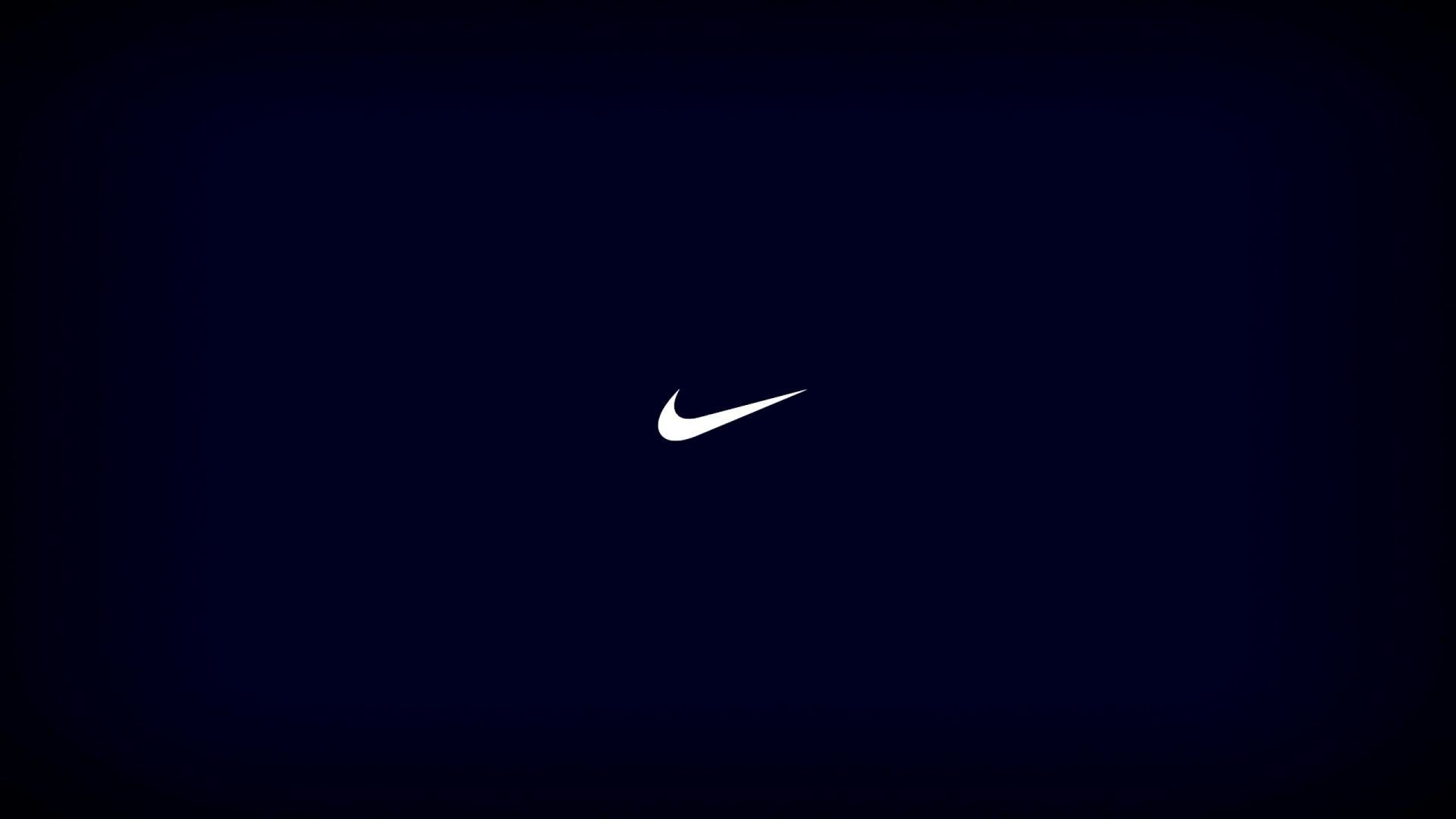 Res: 1920x1080,  Nike Logo On The Blue Background Wallpaper Des Wallpaper .