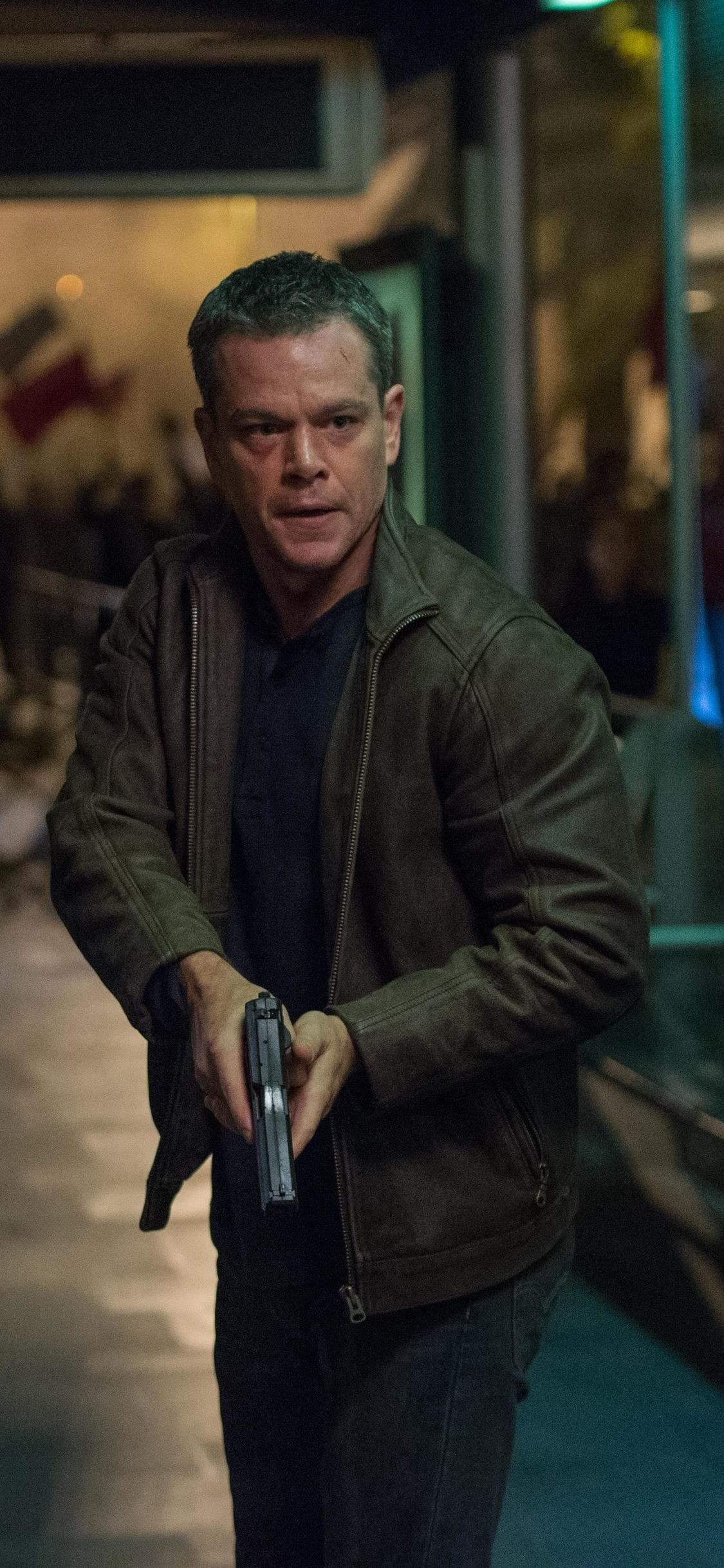 Res: 1125x2436, Matt Damon In Jason Bourne (Iphone XS,Iphone 10,Iphone X)