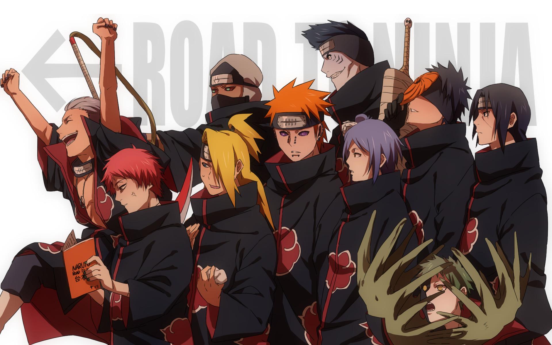 Res: 1920x1200, ... Deidara (Naruto) Hidan (Naruto) Pain (Naruto) Konan (Naruto) Kisame  Hoshigaki Obito Uchiha Itachi Uchiha Zetsu (Naruto) Akatsuki (Naruto)  Wallpaper