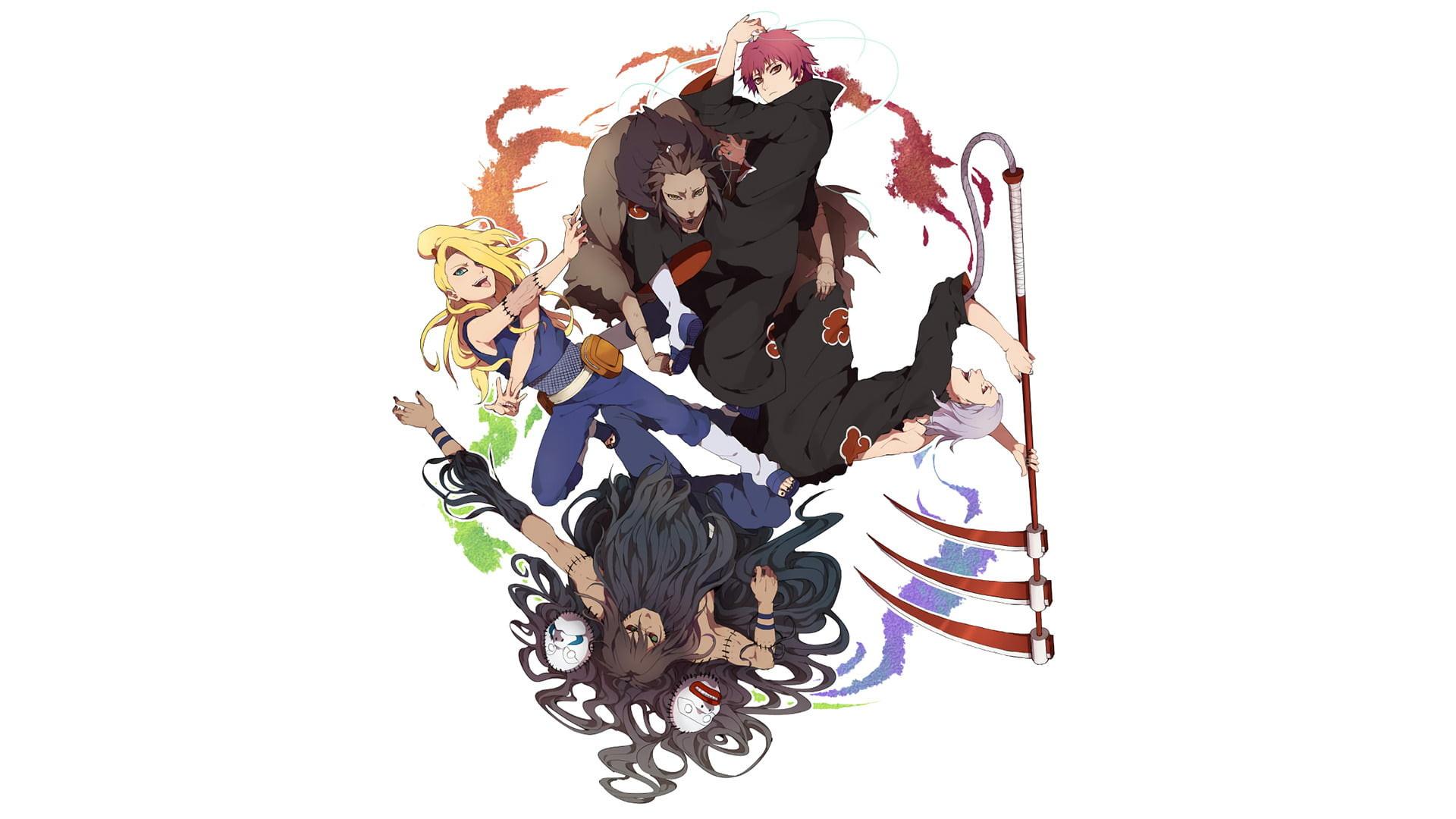 Res: 1920x1080, Anime, Naruto, Akatsuki (Naruto), Deidara (Naruto), Hidan (
