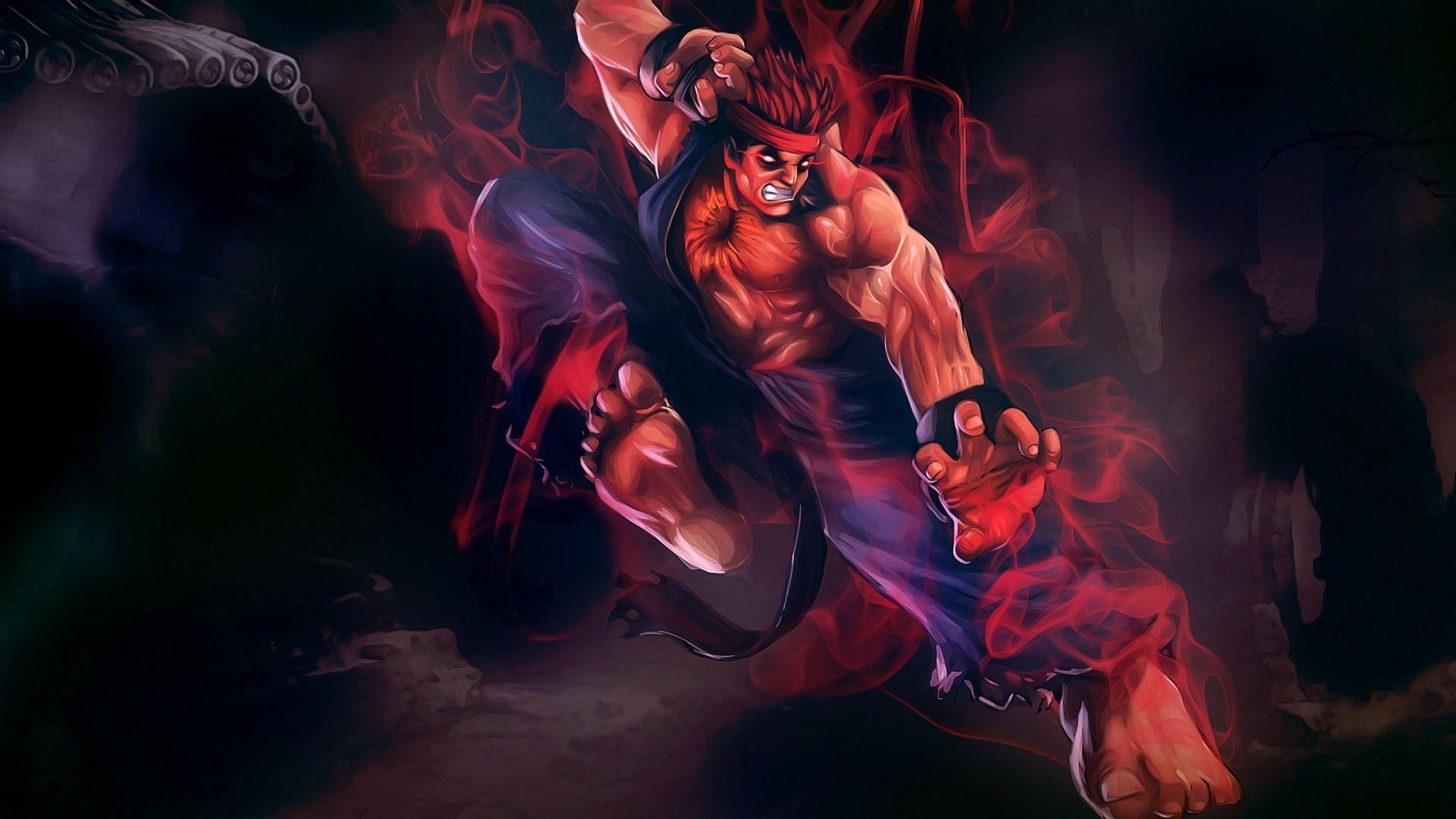 Res: 1920x1080, Evil Ryu Wallpaper   Wallpapers HD   Pinterest