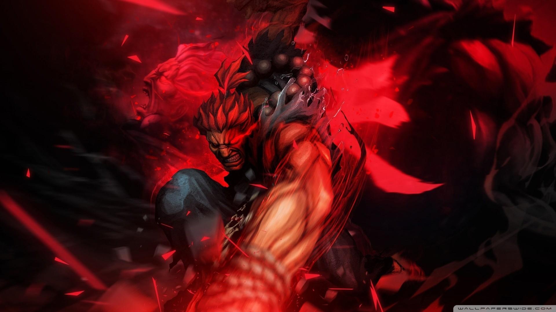 Res: 1920x1080, Evil Ryu Vs Akuma Wallpaper Street fighter x tekken akuma