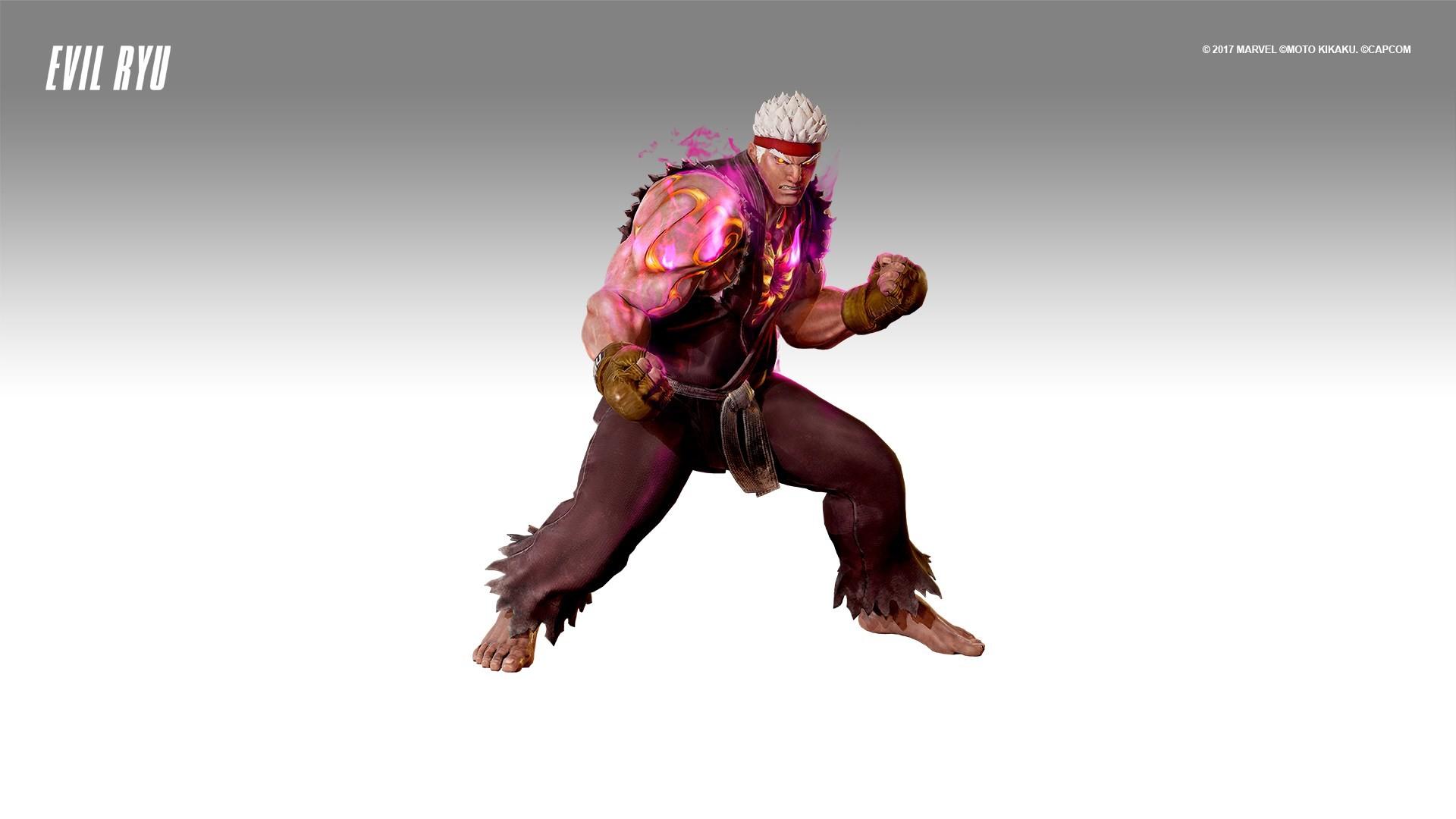 Res: 1920x1080, Capcom: Infinite - Evil Ryu Costume