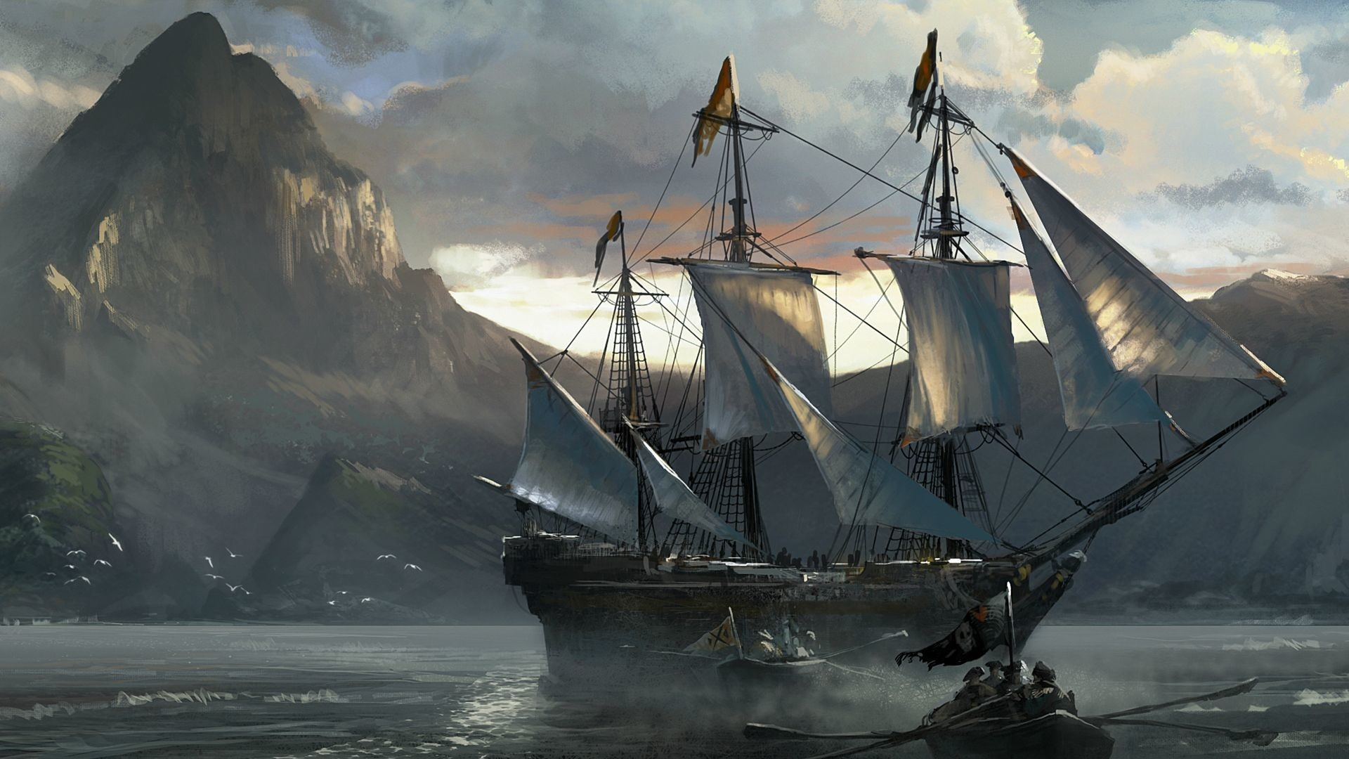 Res: 1920x1080,  Sailing Ship Wallpapers · 0 · Download · Res:  ...