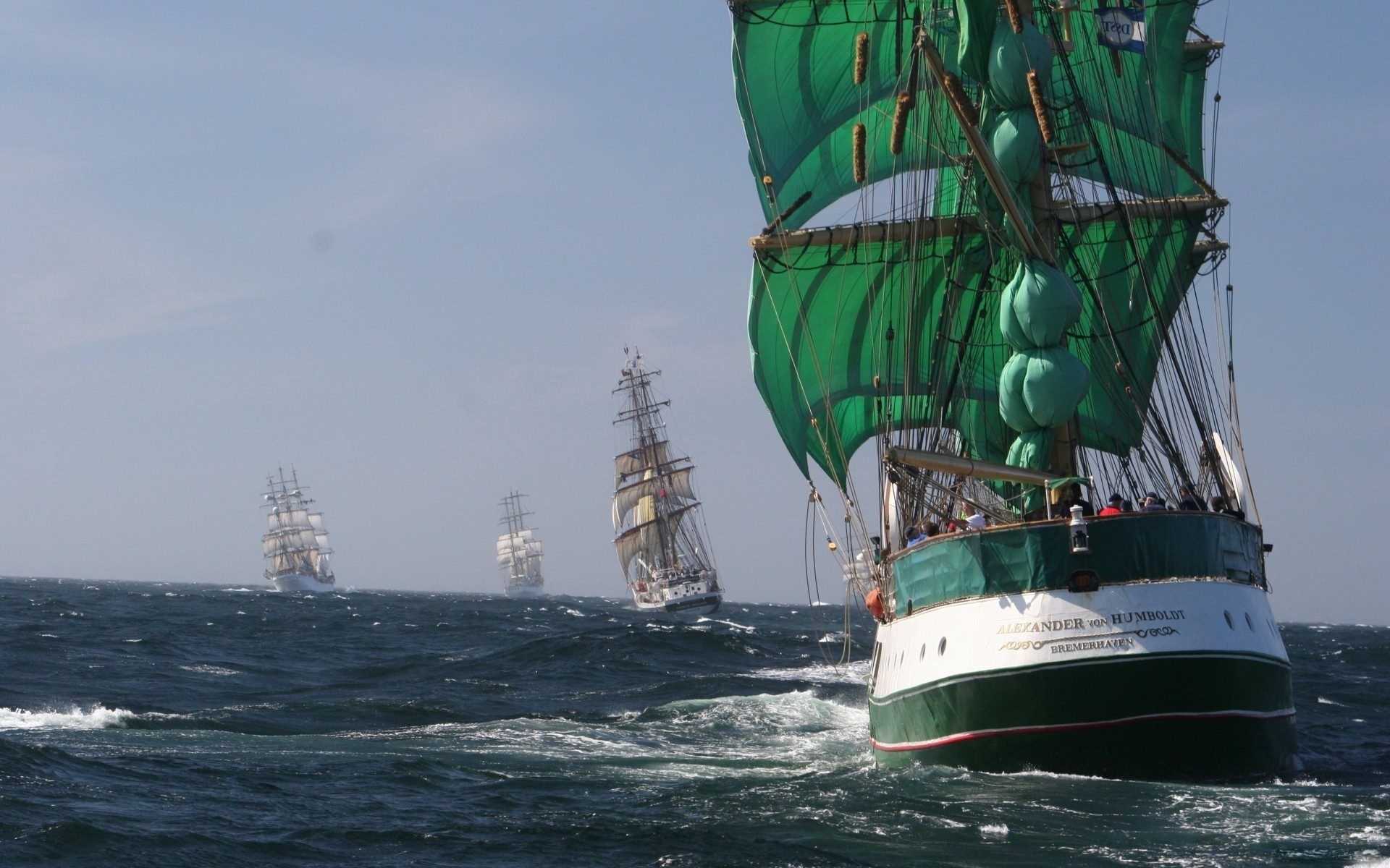 Res: 1920x1200, Tall Ships Races gray ocean races sea ship water