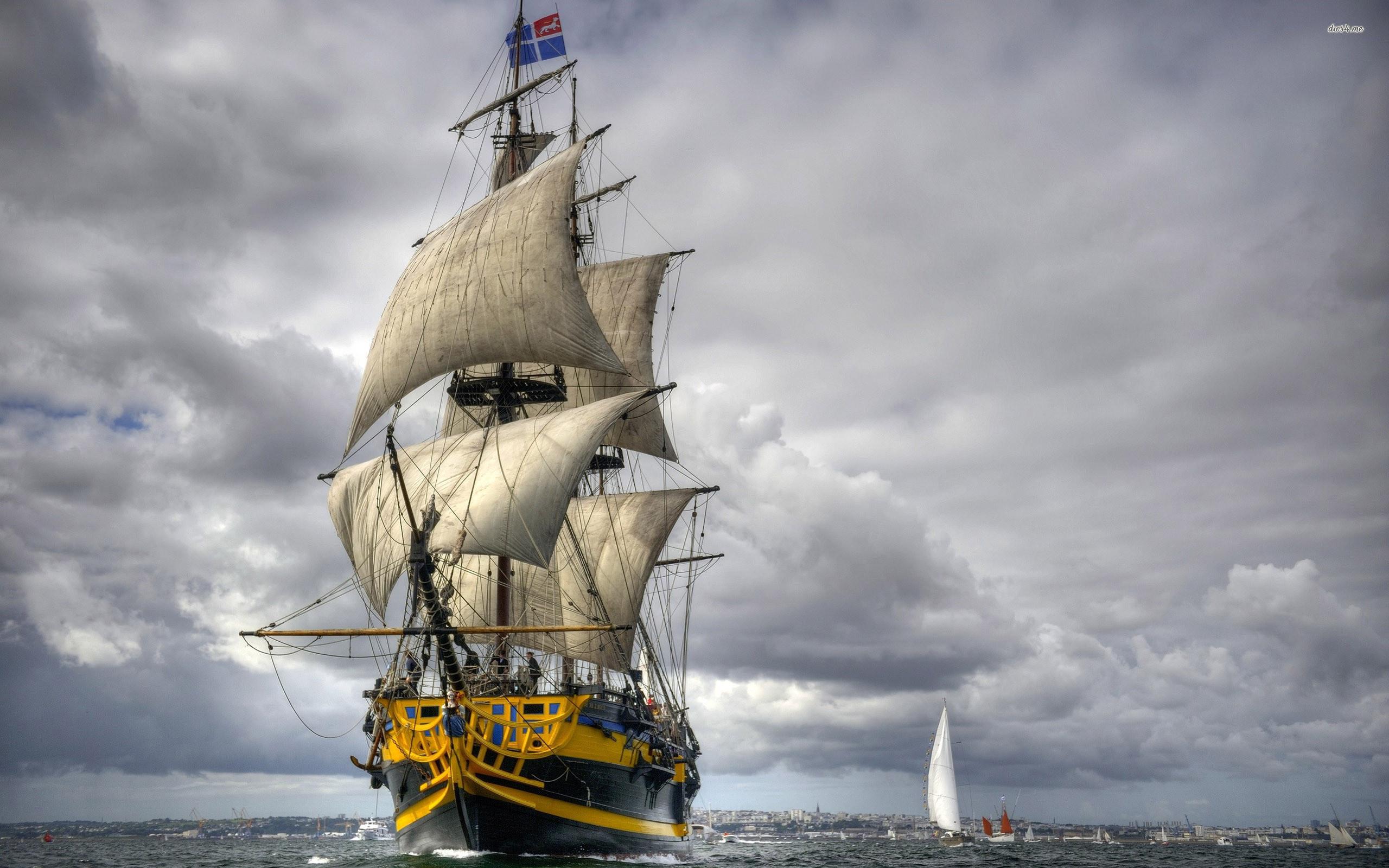 Res: 2560x1600, Sailing ship wallpaper