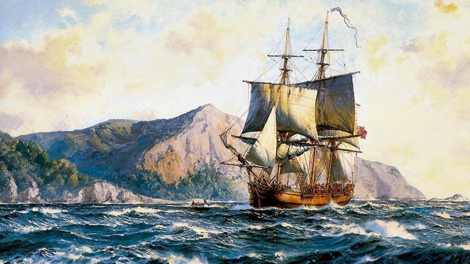 Res: 1920x1080, Tall Ship Wallpaper