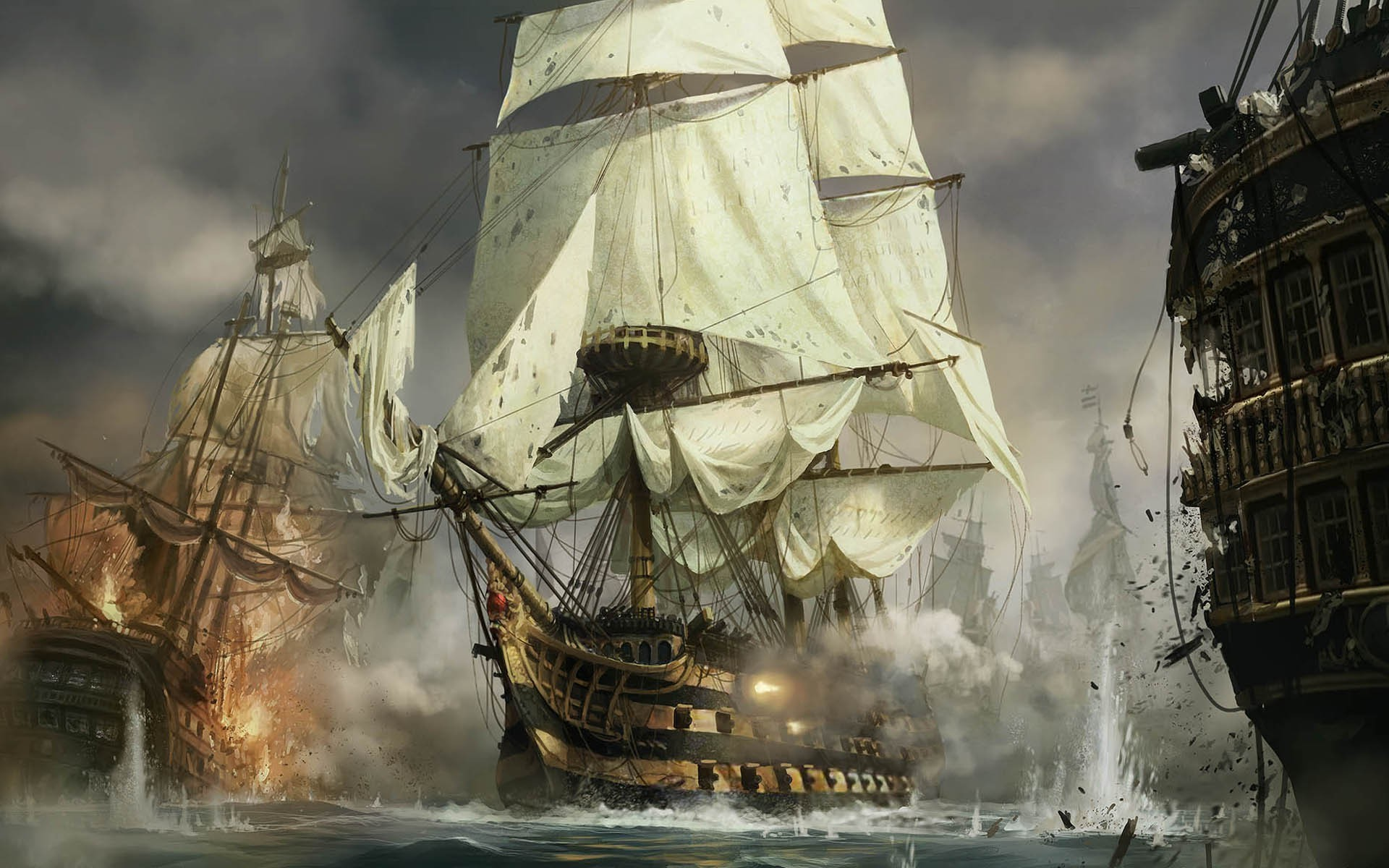 Res: 1920x1200, ...  sea, Old ship Wallpapers HD Desktop and Mobile Backgroun