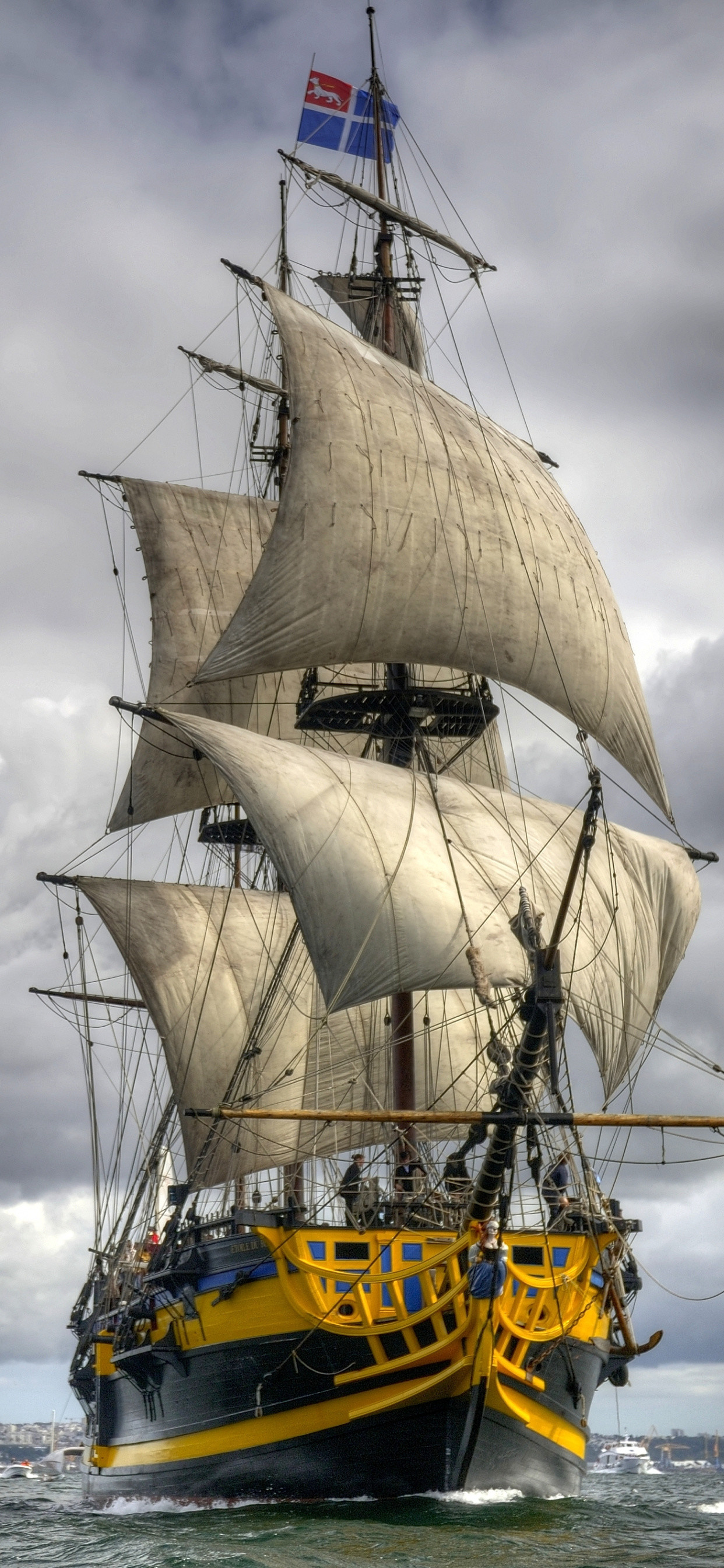 Res: 1242x2688,  Ship of The Line, Manila Galleon, East Indiaman, Ship, Tall Ship  Wallpaper for IPhone XS Max