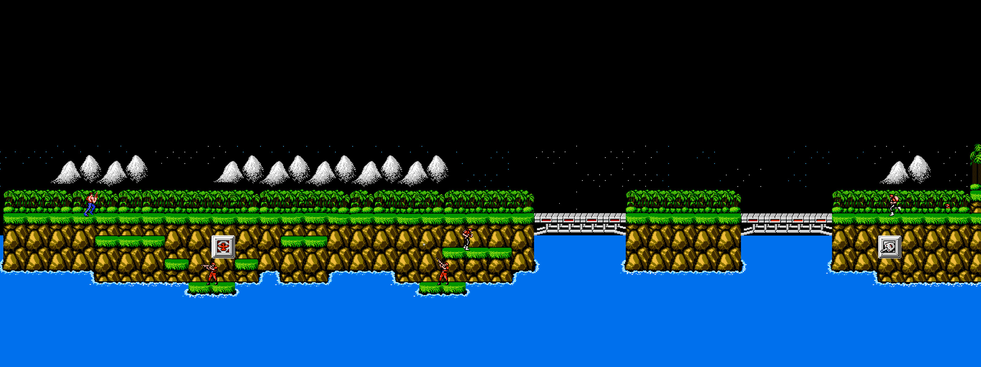 Res: 3200x1200, contra stage 1 jungle by kennyzzle customization wallpaper multi