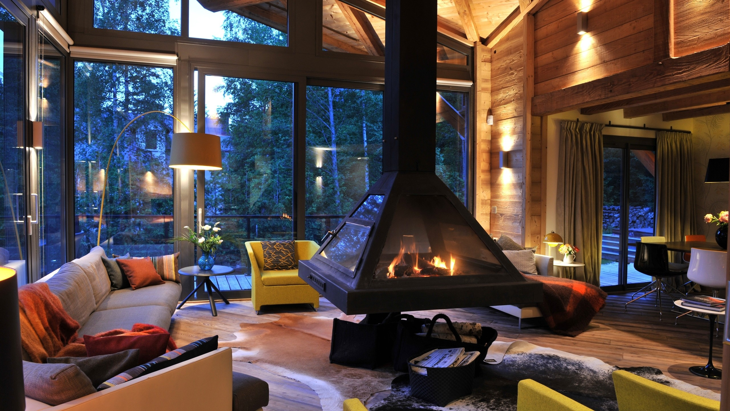 Res: 2560x1440, 25 Fireplace wallpaper Decorating Ideas