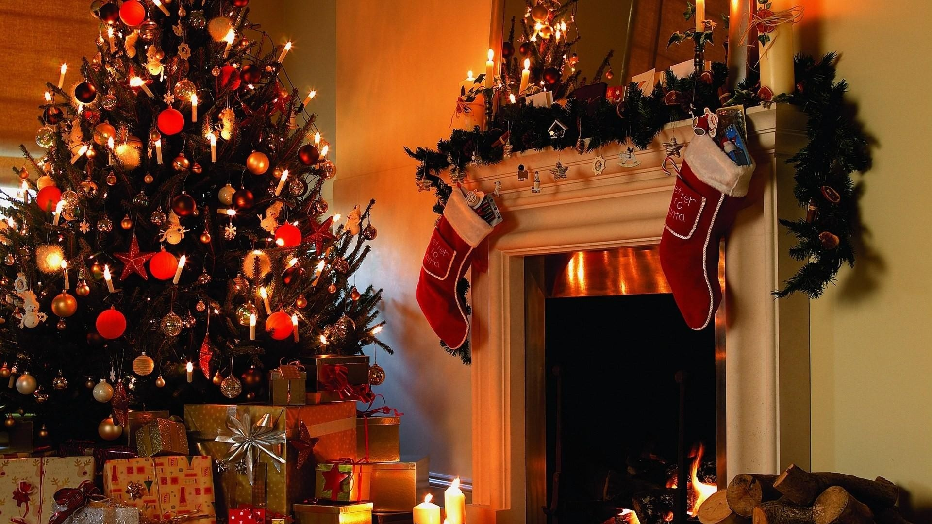 Res: 1920x1080, Download--Christmas-tree-Gifts-Candles-wallpaper-wp2004375