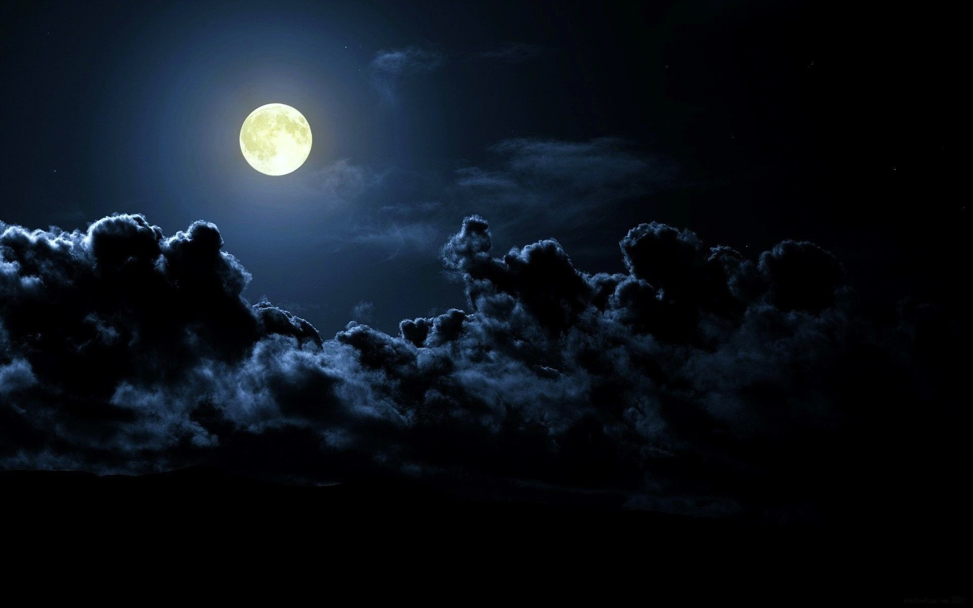 Res: 1920x1200, Night, moon, dark clouds, clouds, nature | Free HD wallpapers