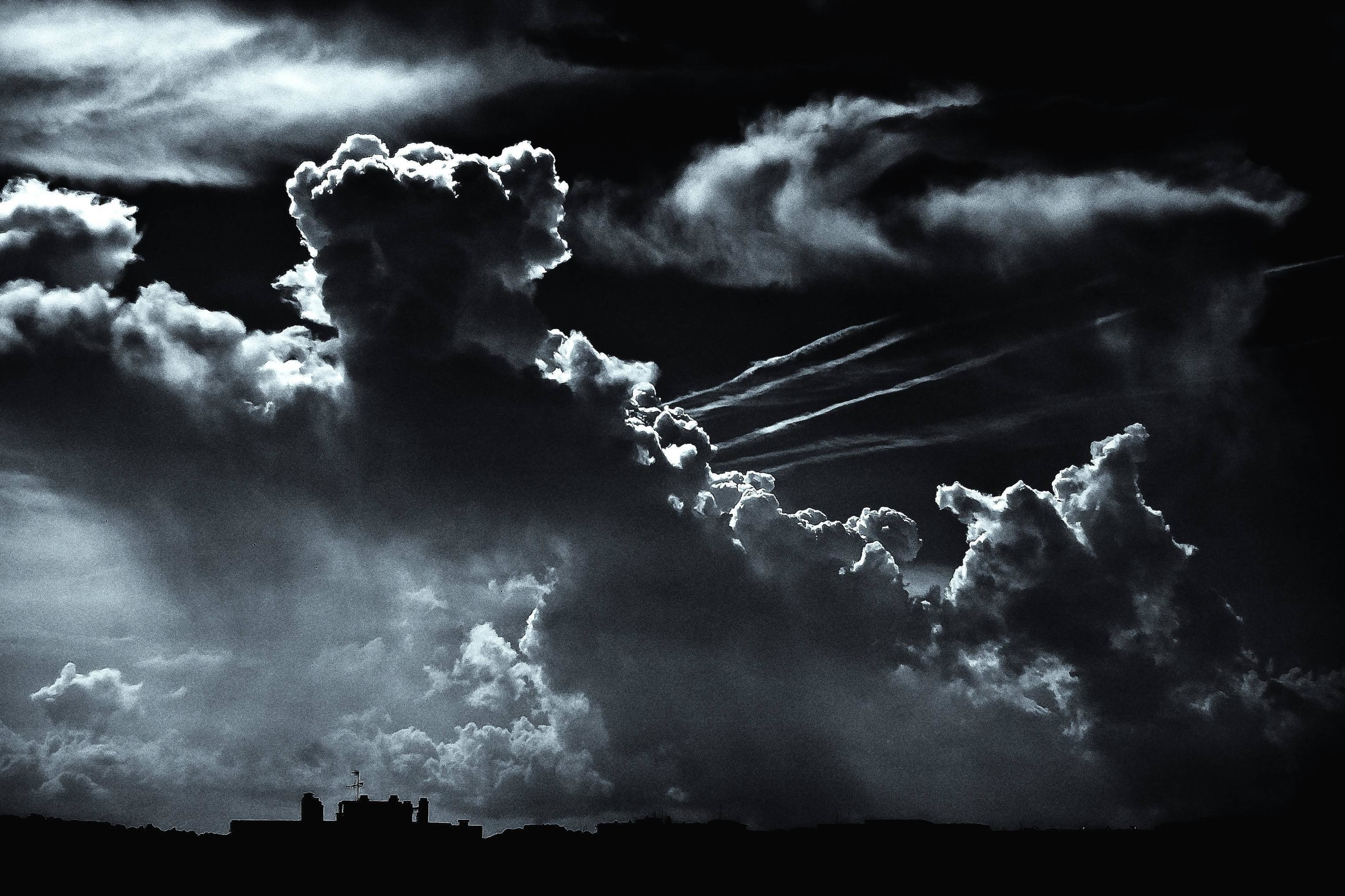 Res: 3042x2027, Wallpapers For > Dark Clouds Wallpaper Hd