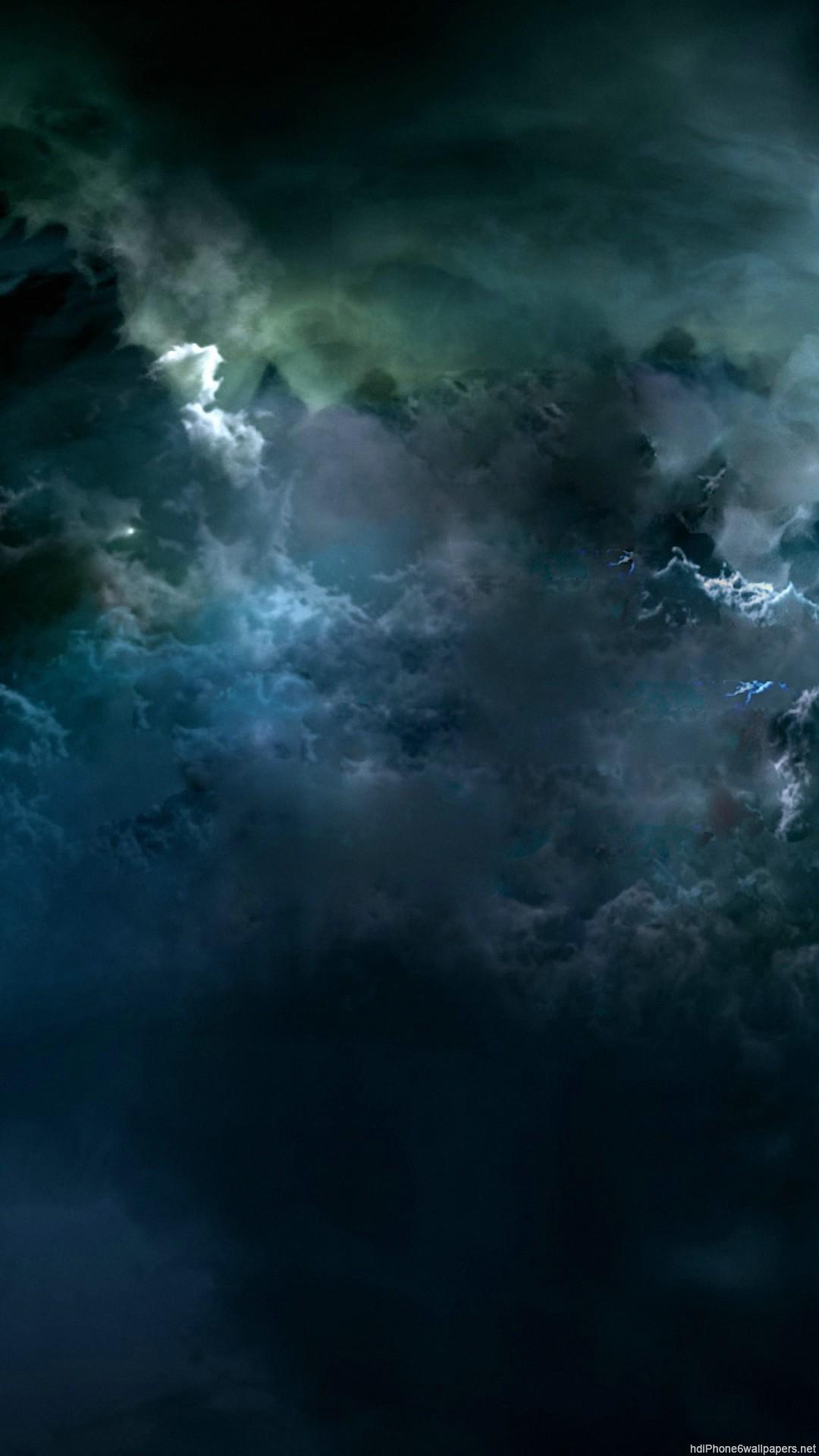 Res: 1080x1920, 1920x1200 Dark Clouds Night Time