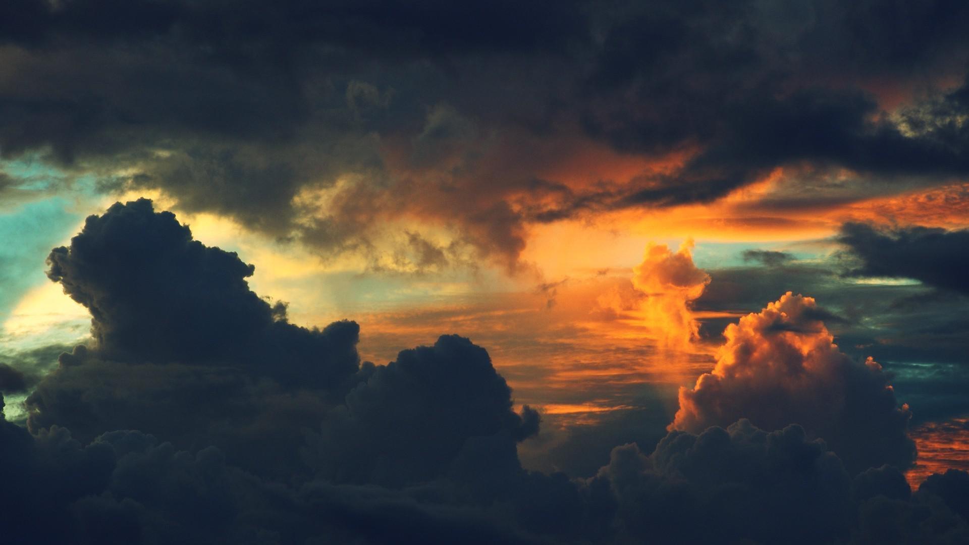 Res: 1920x1080, Sunset Dark Clouds