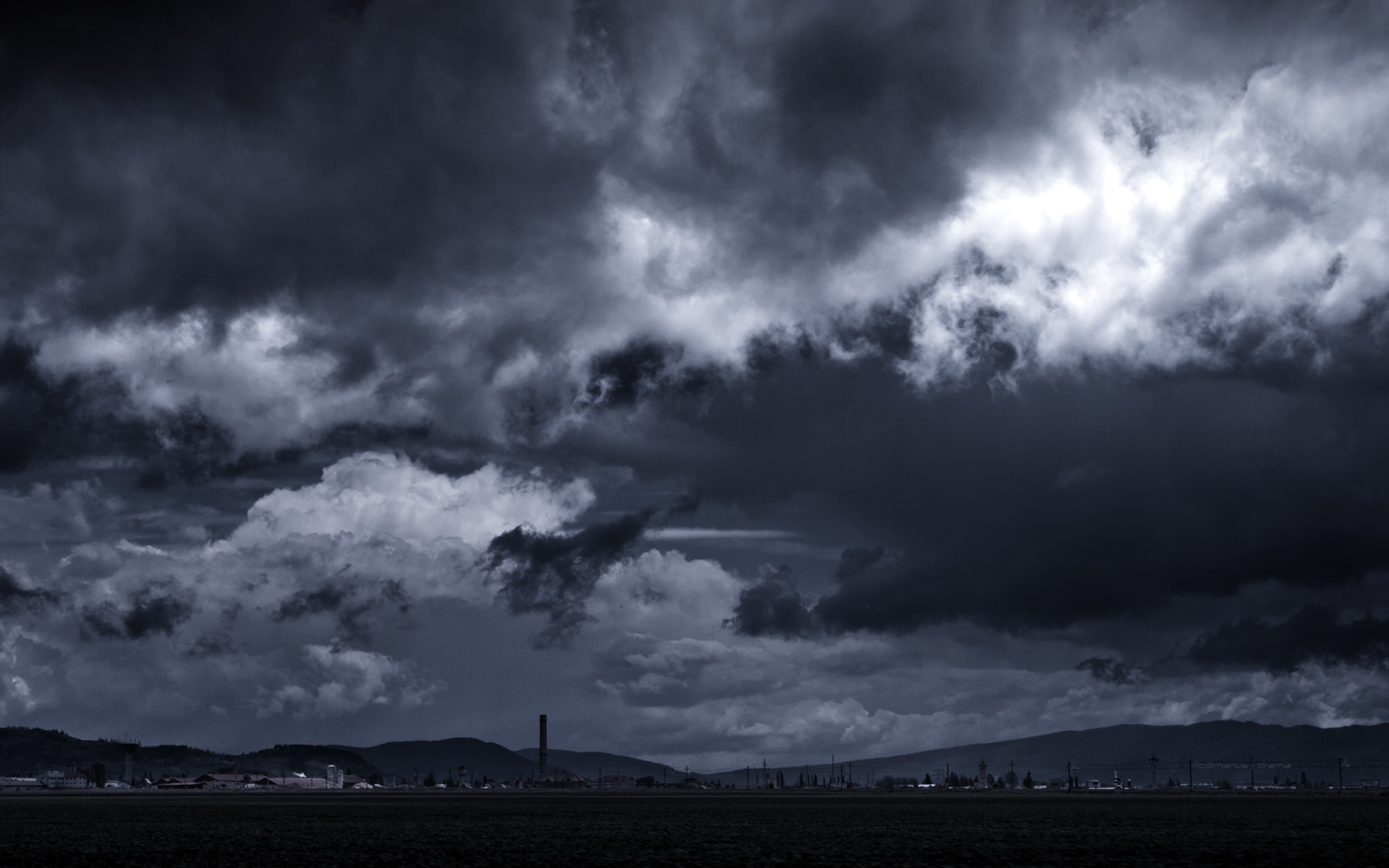 Res: 1920x1200, Thunderstorm Clouds Wallpaper