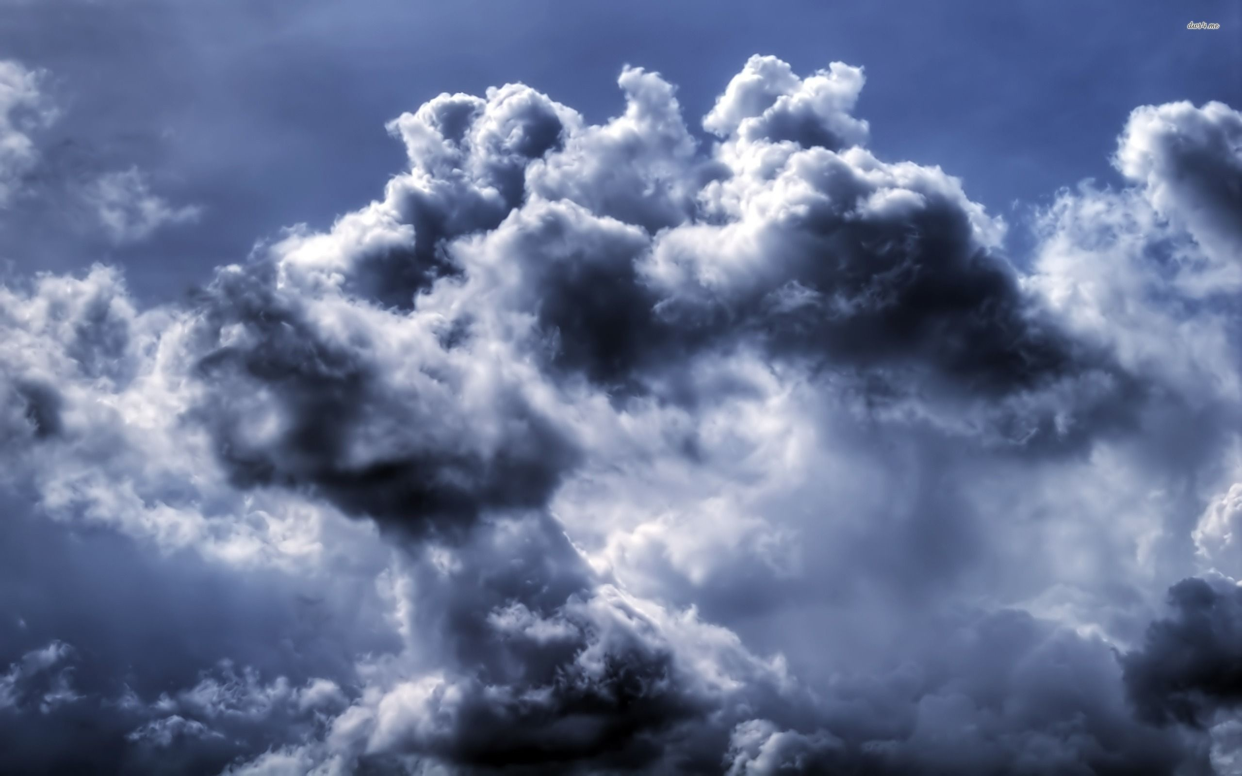 Res: 2560x1600, ... Dark clouds in the sky wallpaper  ...