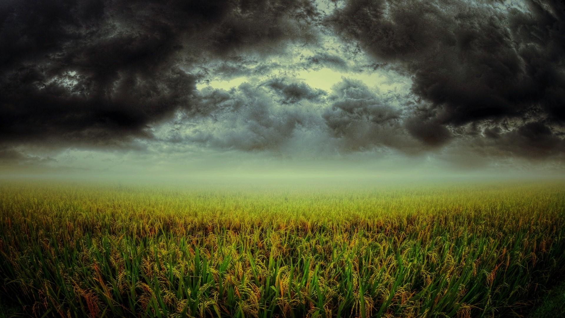 Res: 1920x1080, wallpaper green · clouds