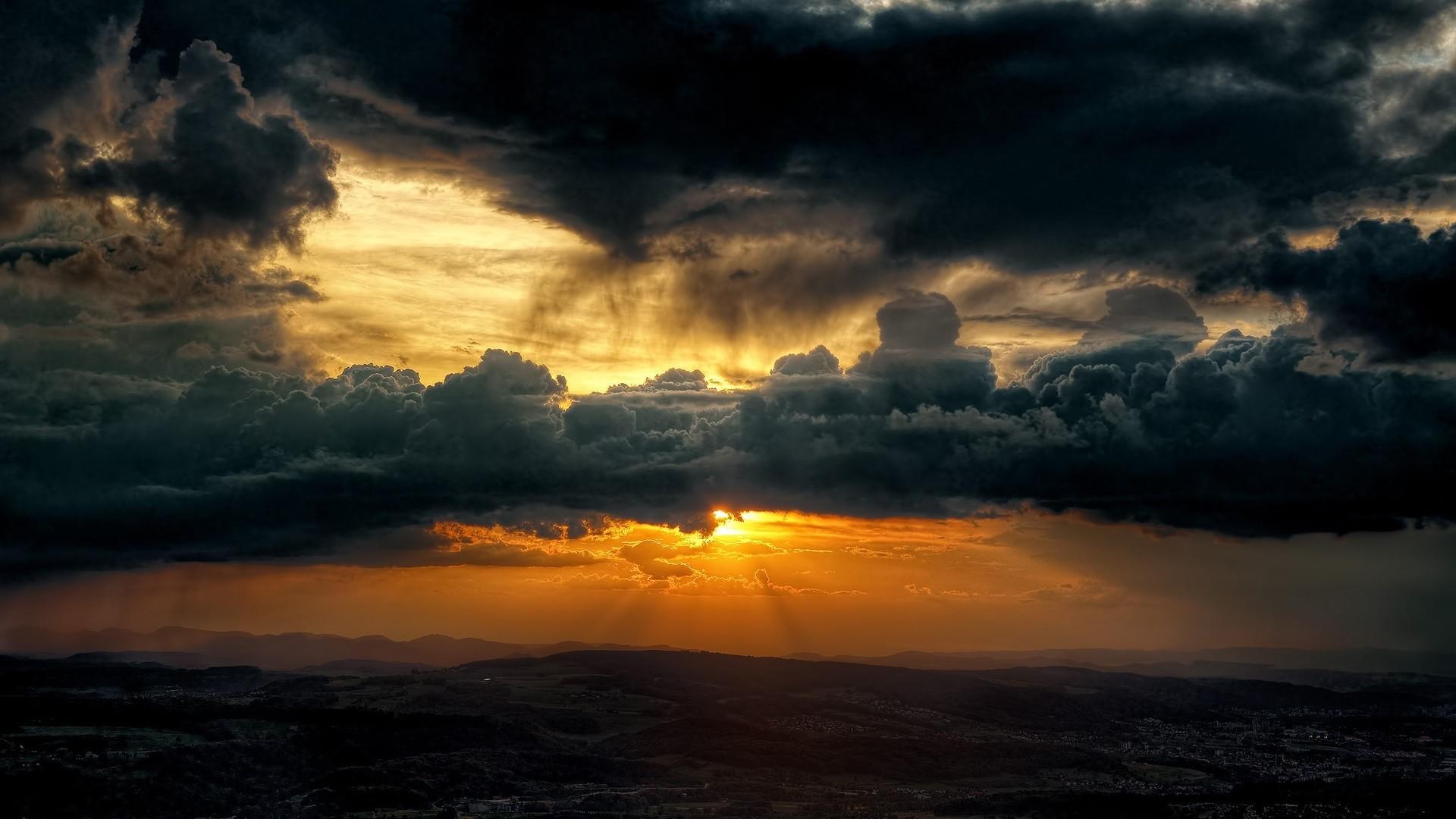 Res: 1920x1080, Dark Clouds Wallpaper HD  #5490