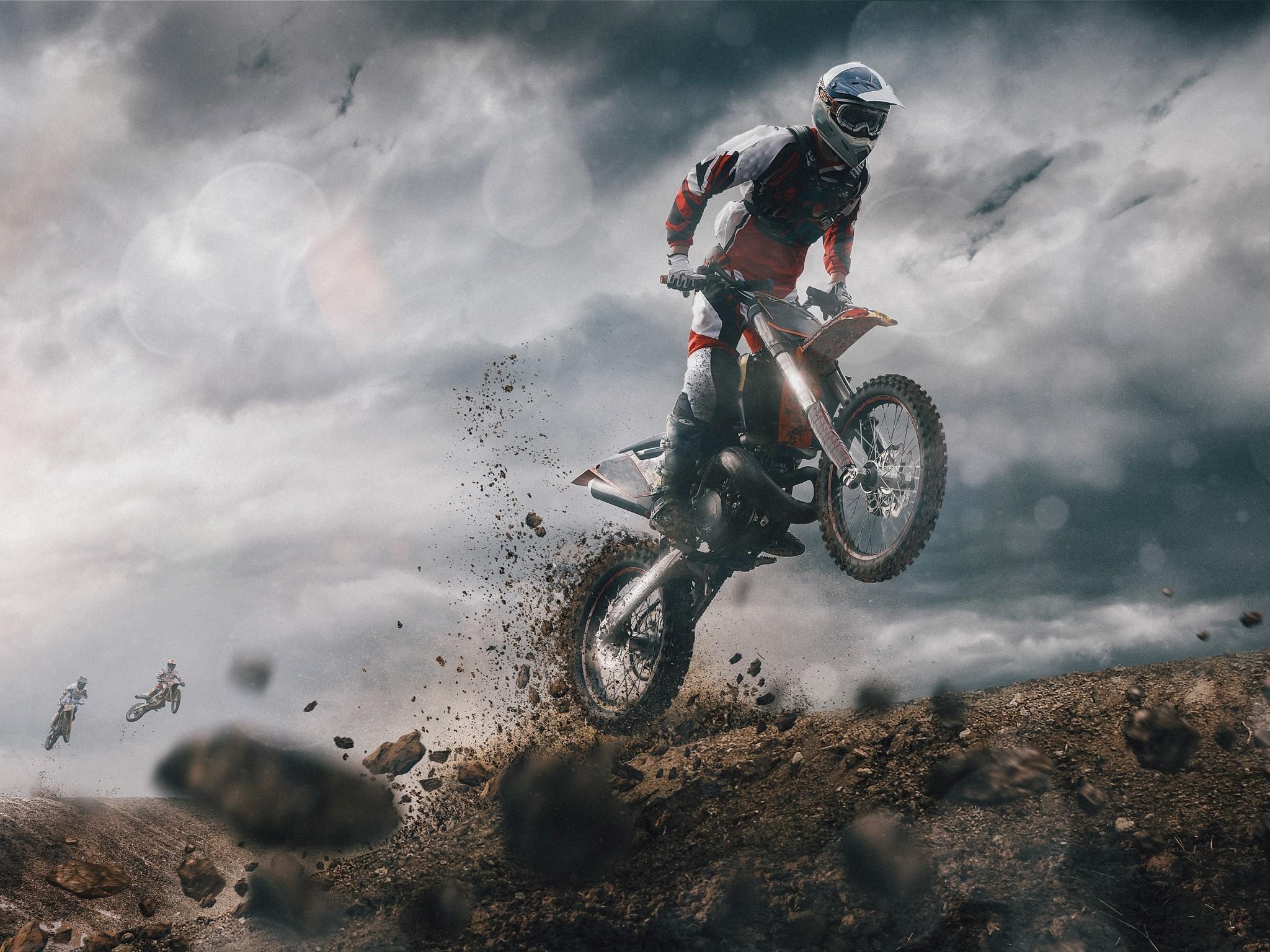 Res: 2048x1536, Motocross, Dirt, Dark Clouds