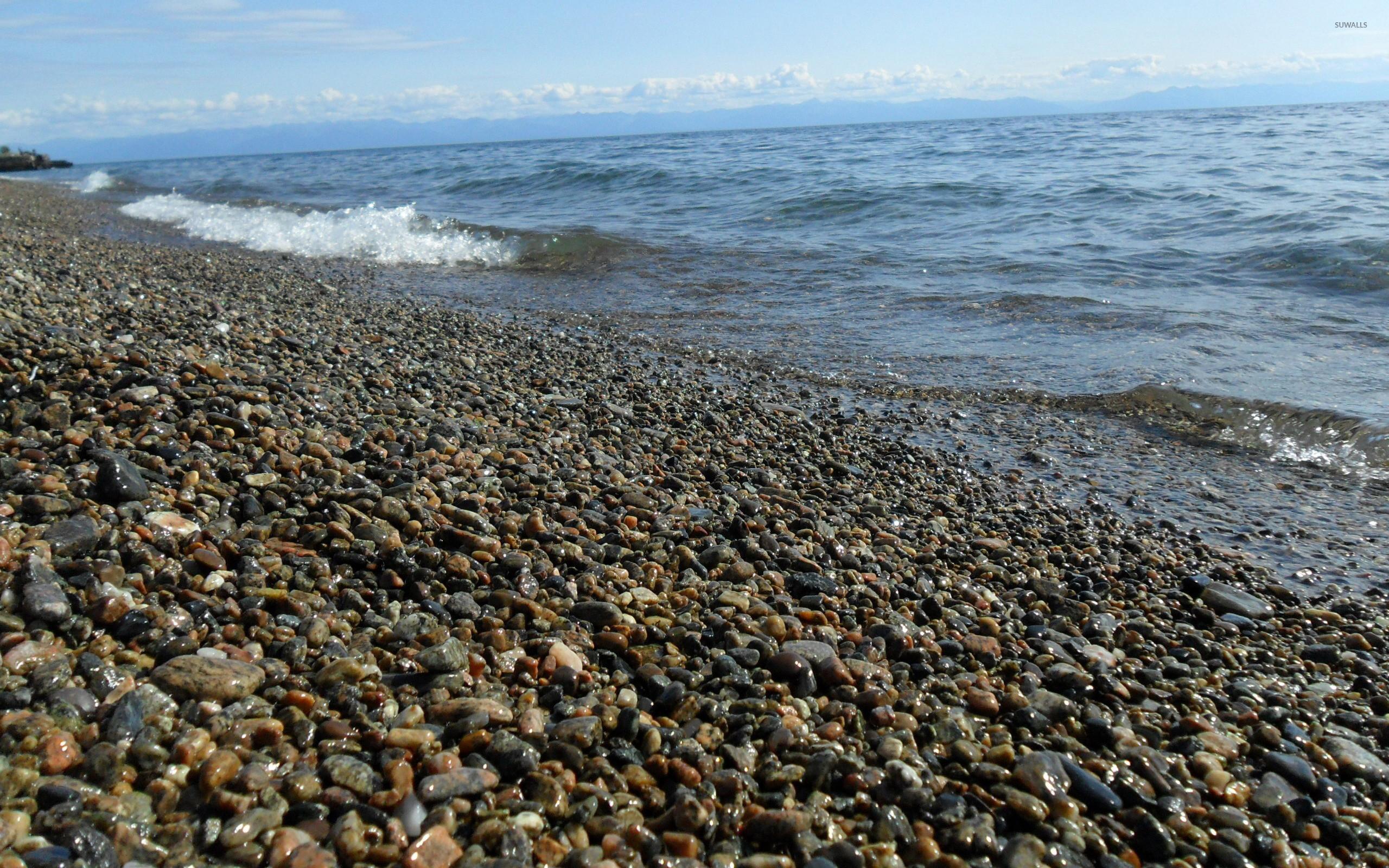 Res: 2560x1600, Pebble beach at the ocean [2] wallpaper